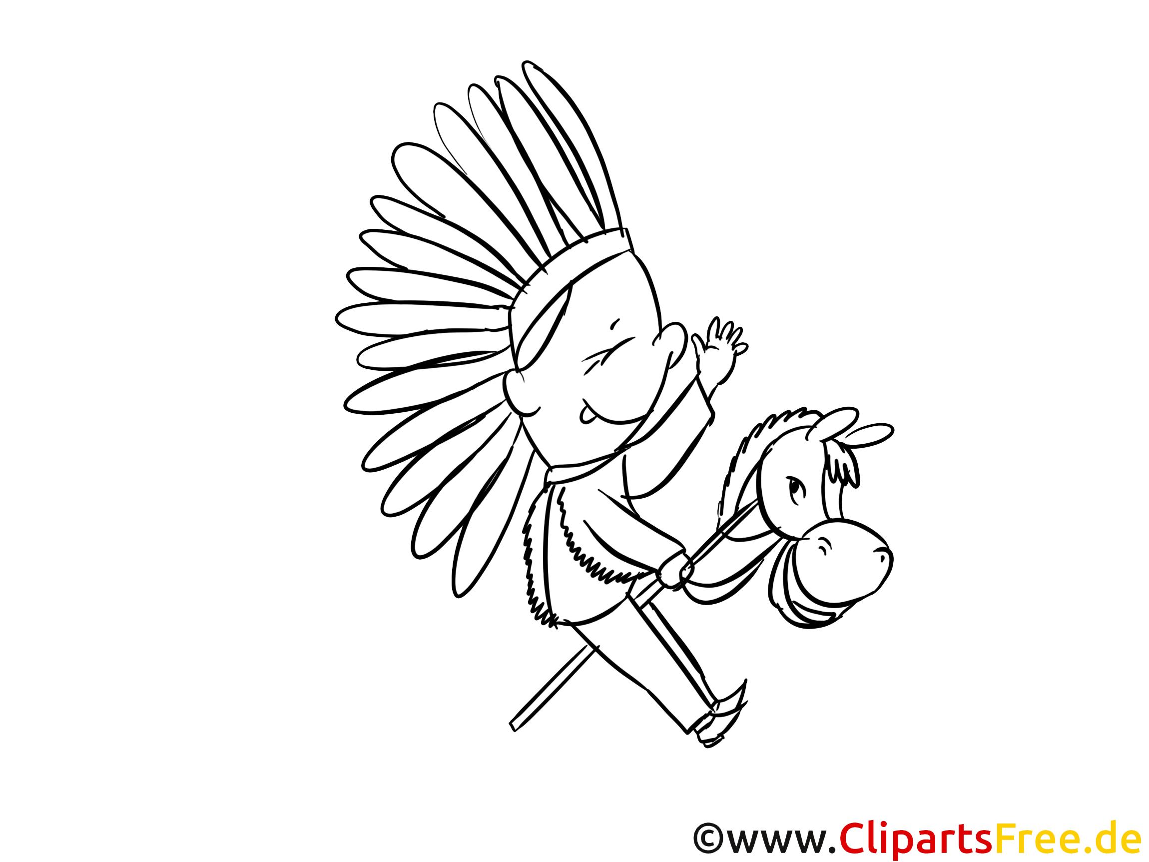 kleiner indianer bilder, malvorlagen, grafiken zum drucken