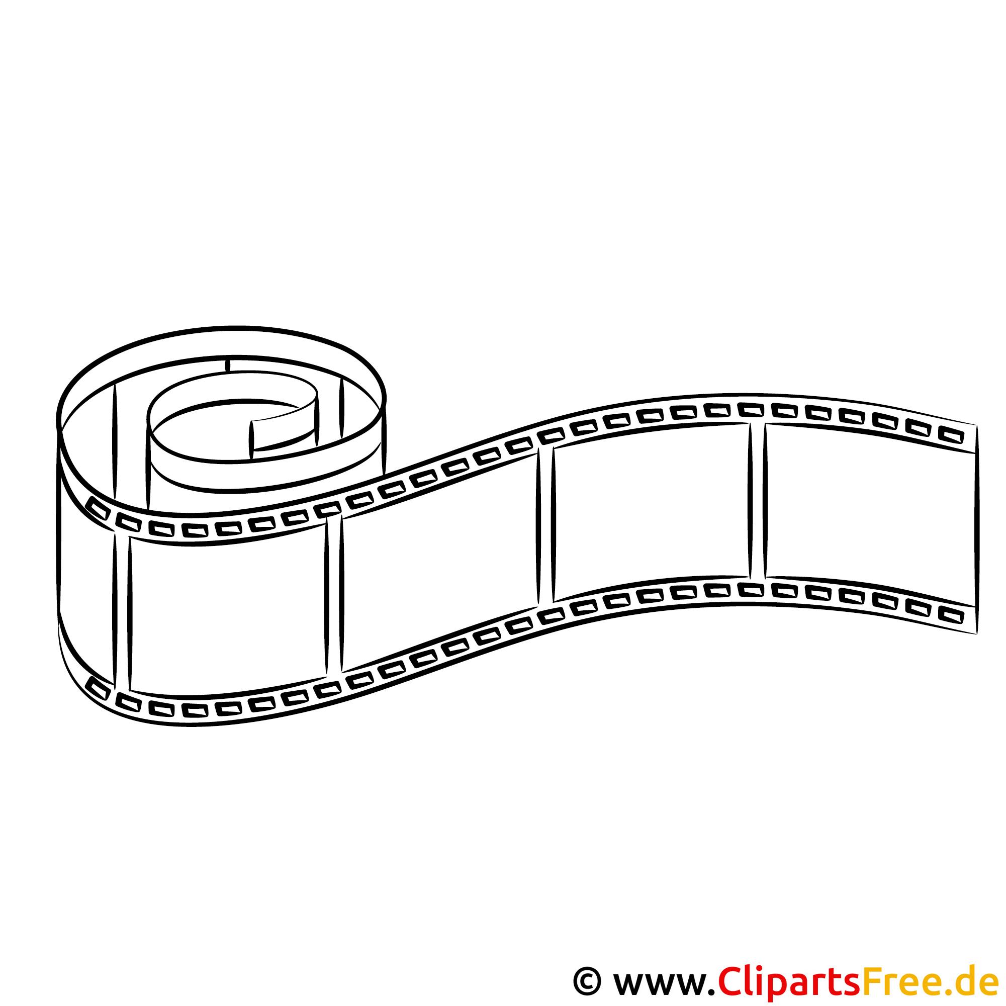 Filmstreifen Bild zum Ausmalen