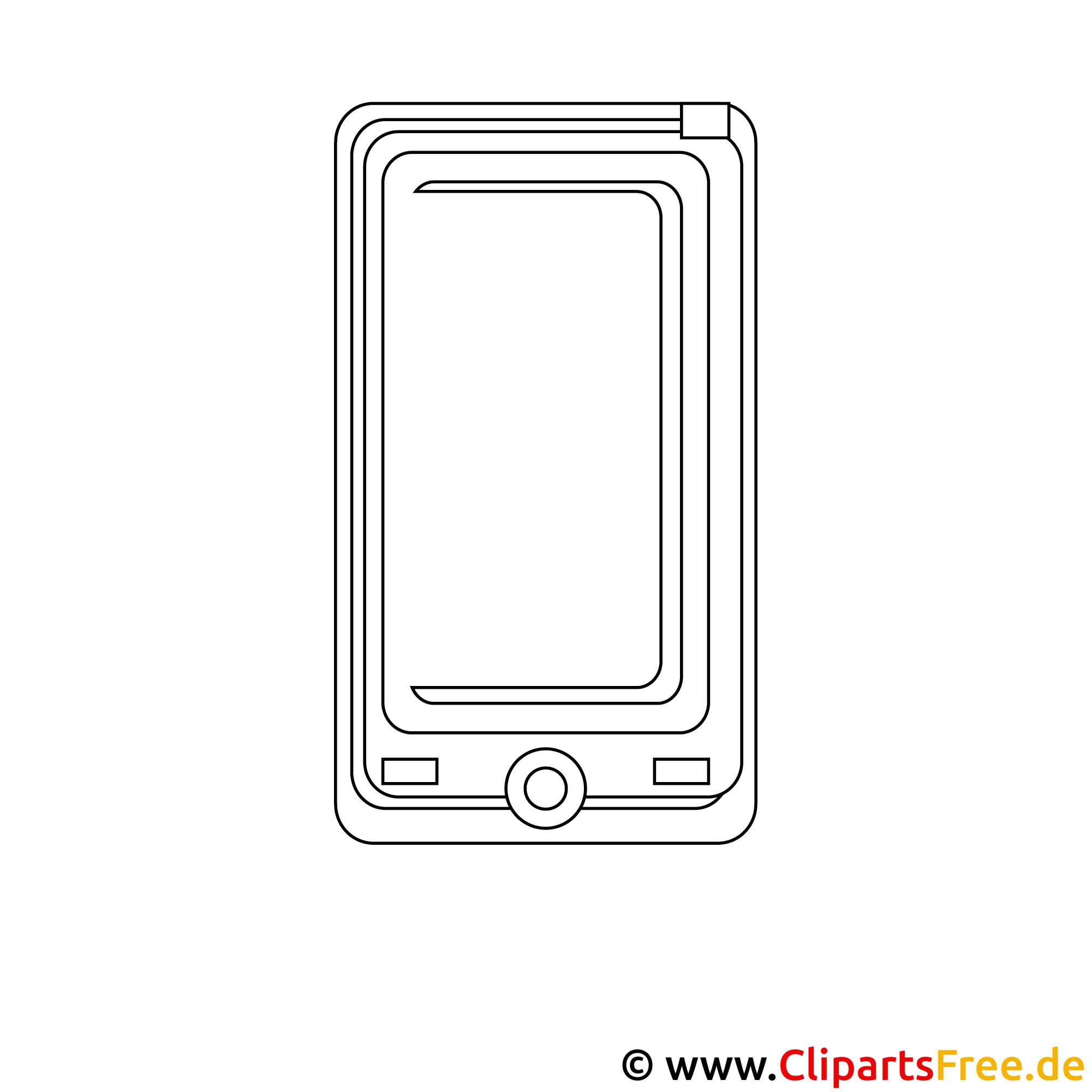 Ausmalbild Handy
