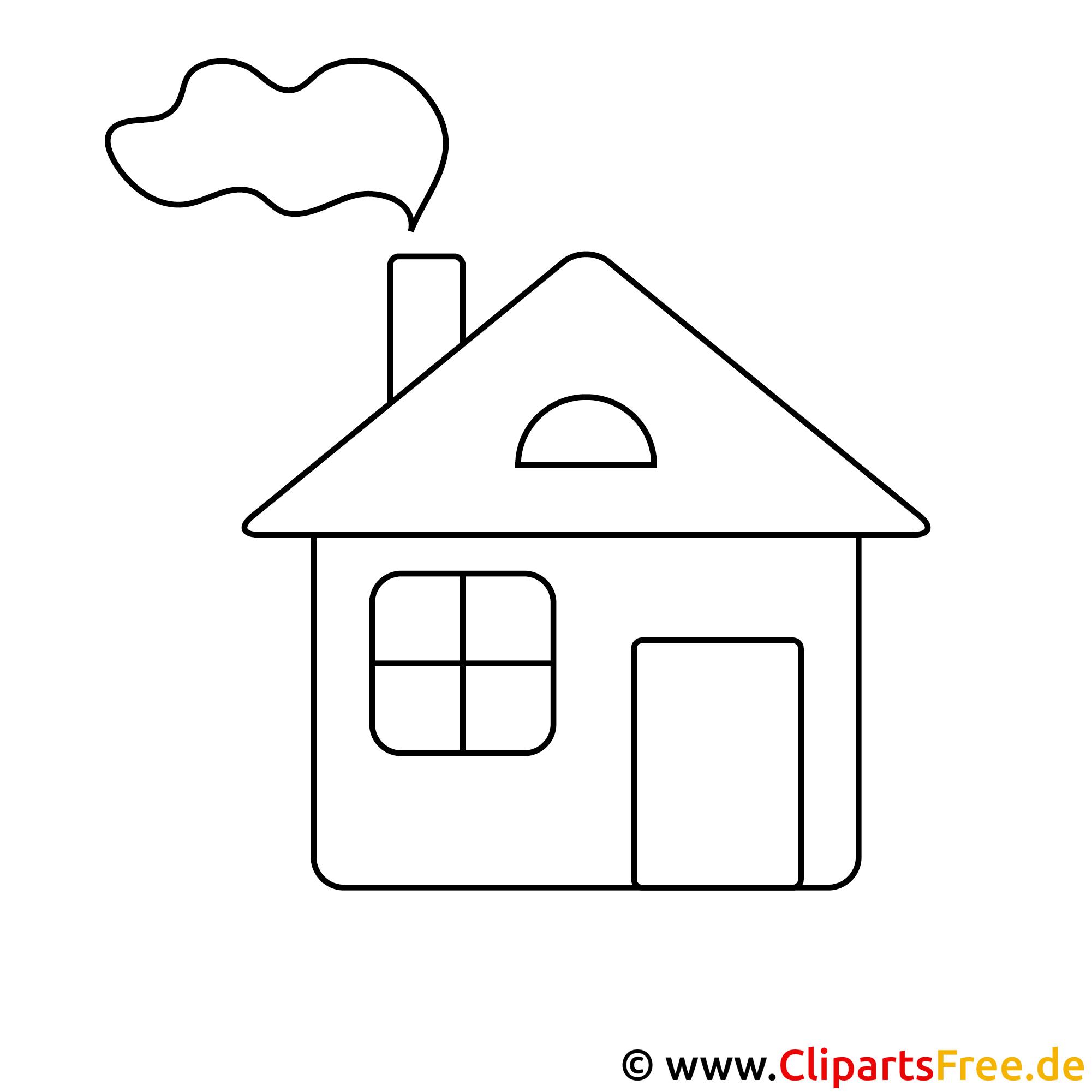 Haus zeichnung  Haus Malvorlage