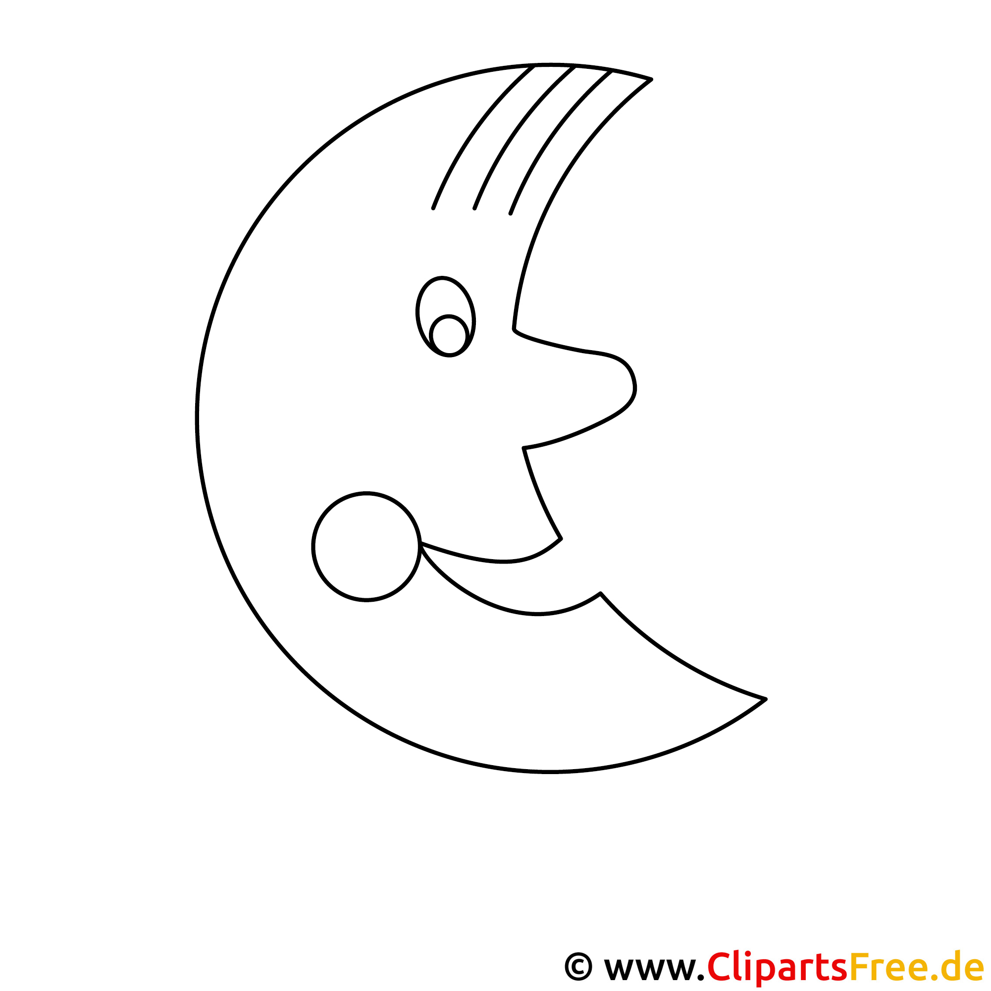 Mond Bild Zum Ausmalen