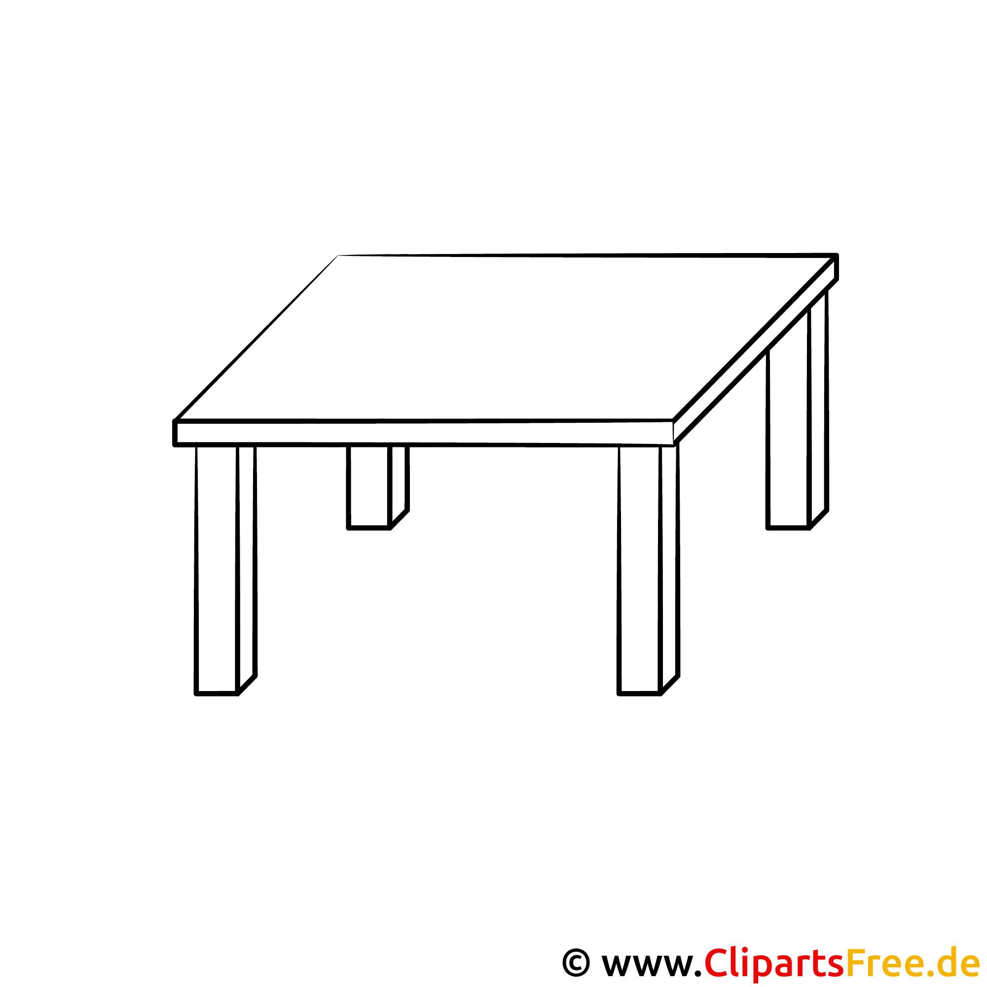 Tisch schule clipart  Tisch Bild zum Ausmalen