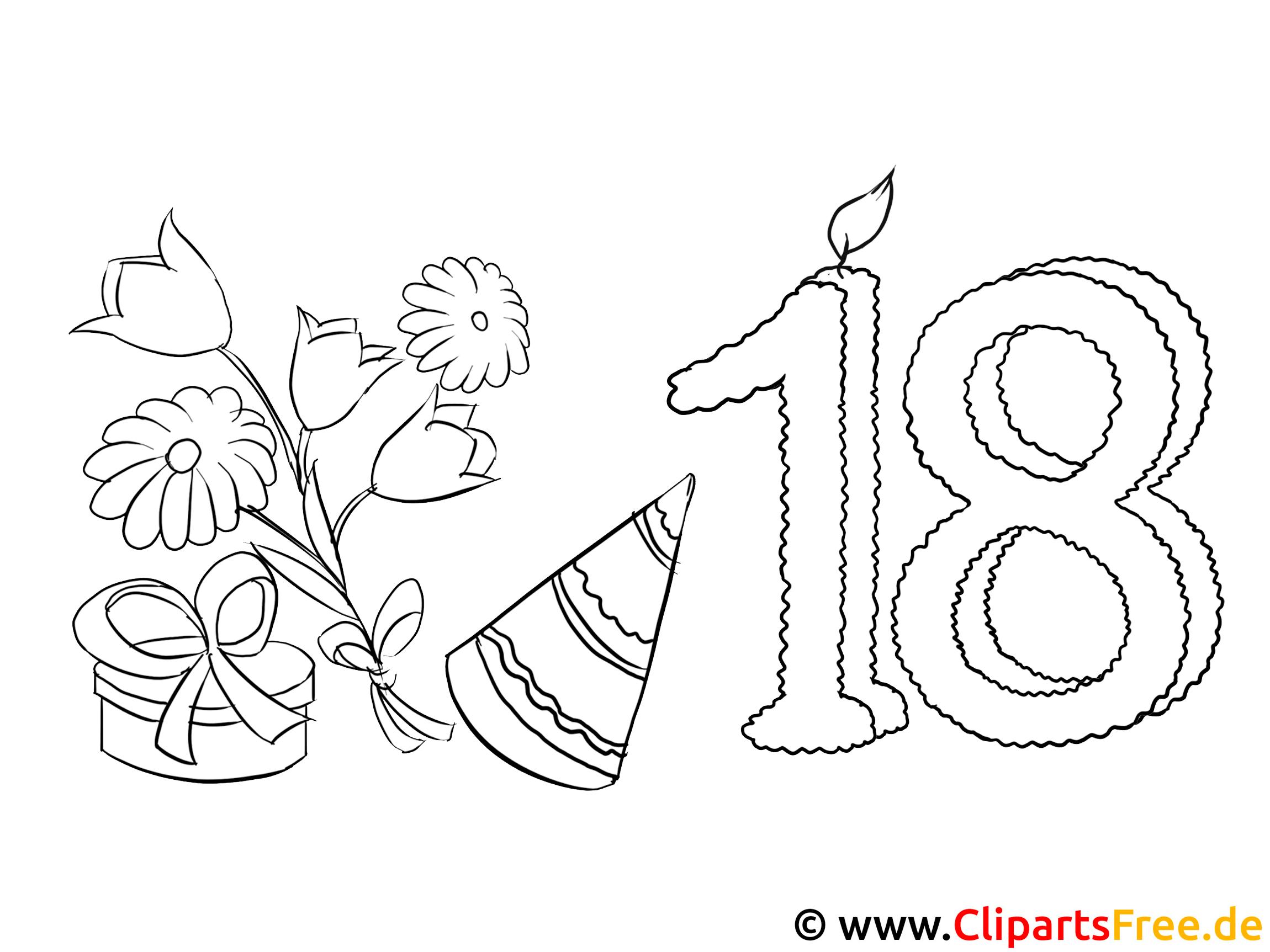 Einladung 18 Geburtstag Malvorlage Kostenlos