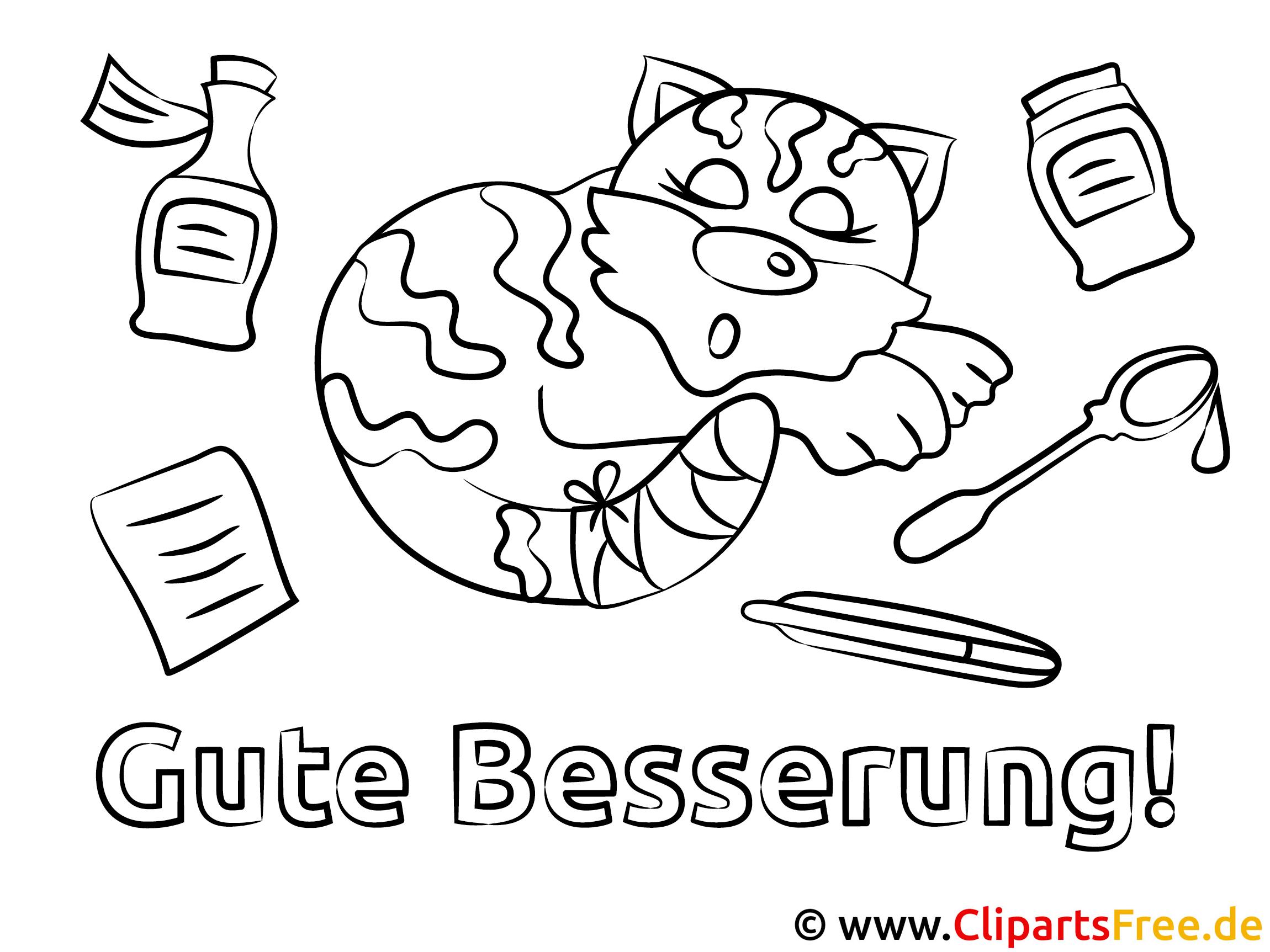 Malvorlagen Für Kinder: Katze Gute Besserung Ausmalbilder Gratis Für Kinder