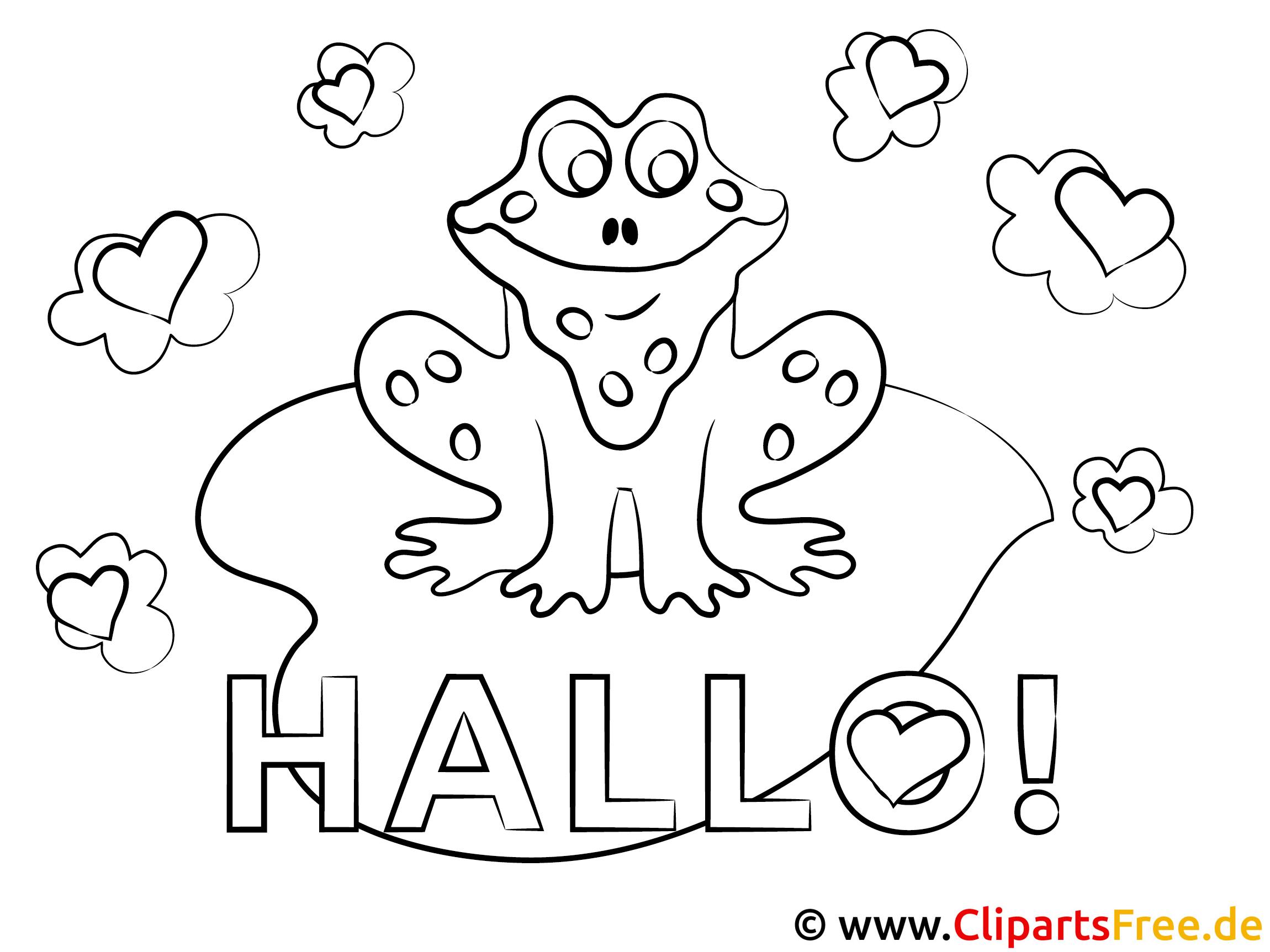 frosch hallo ausmalbilder für kinder kostenlos ausdrucken