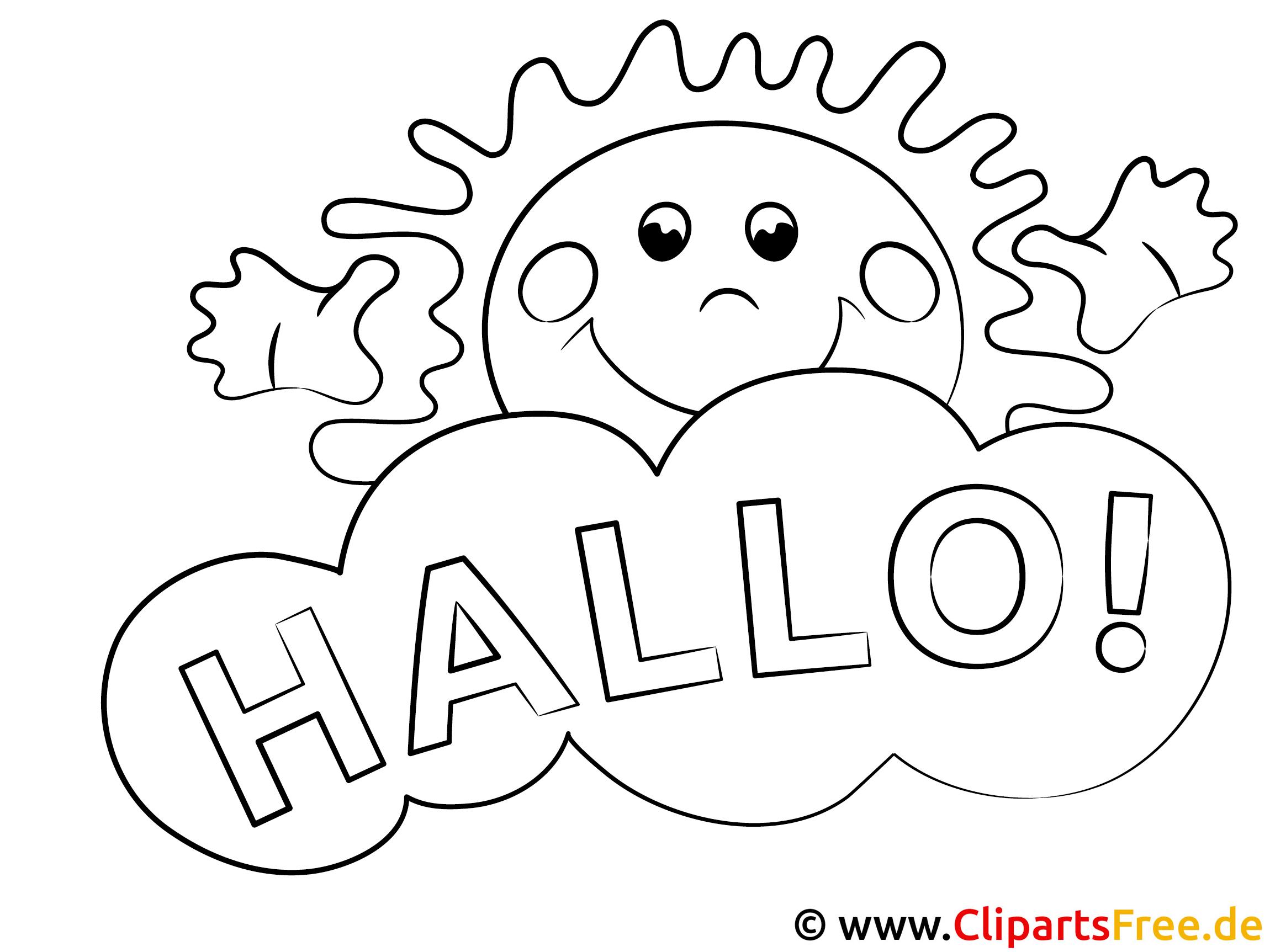 Malvorlagen Für Kinder: Sonne Hallo Ausmalbilder Gratis Für Kinder