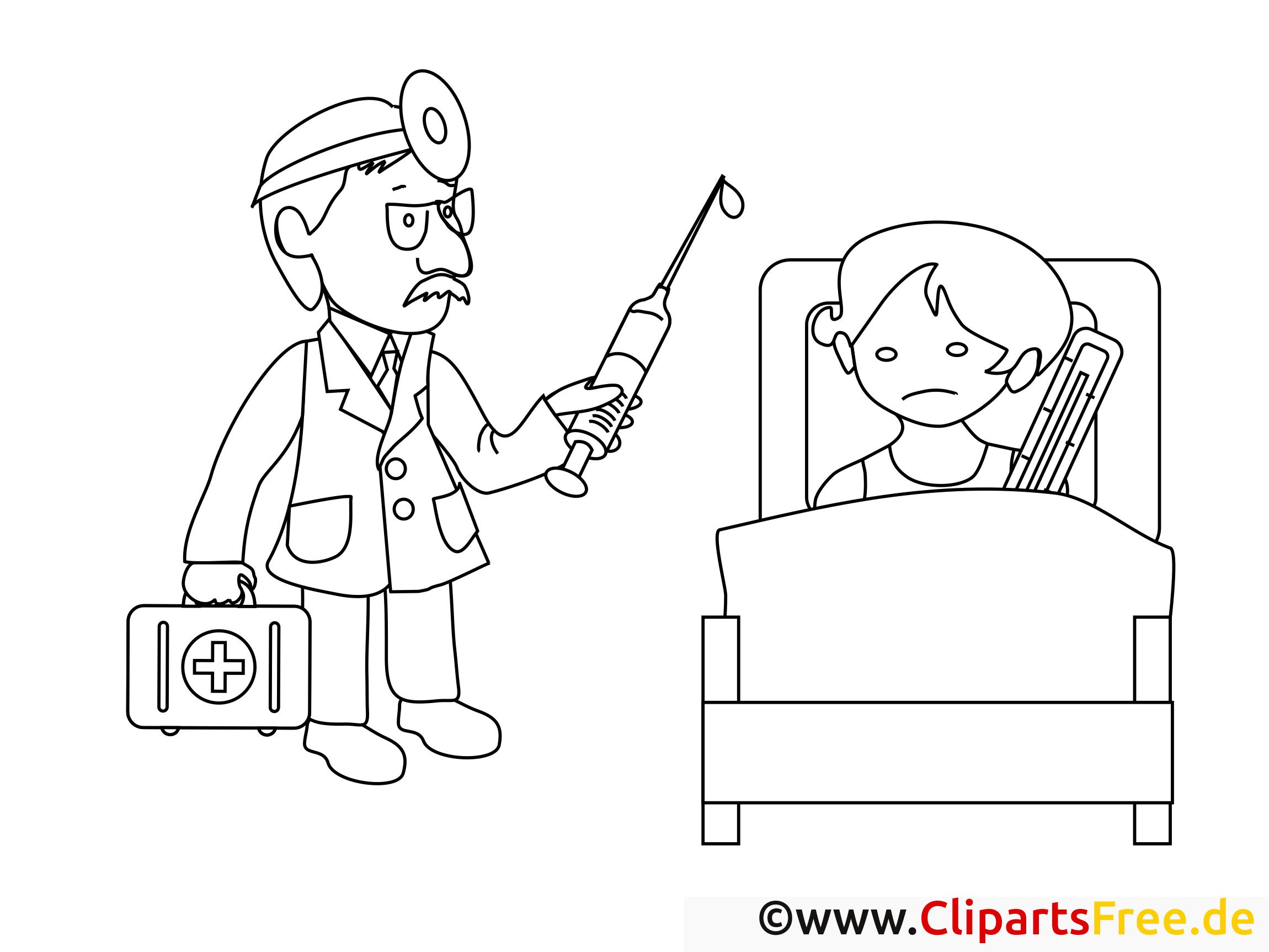 Malvorlagen Für Kinder: Im Krankenhaus Ausmalbilder