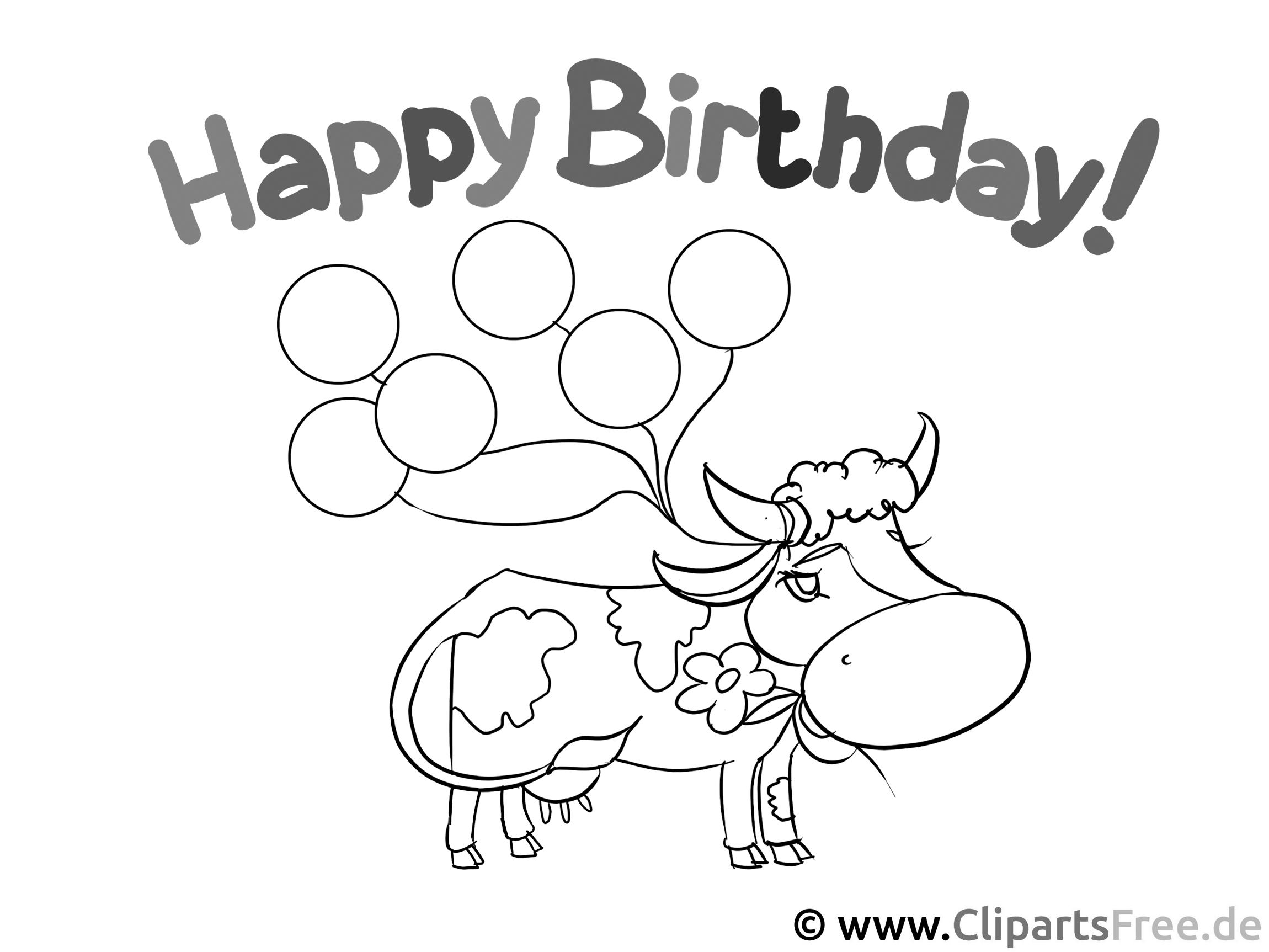 colouring books to print  happy birthday