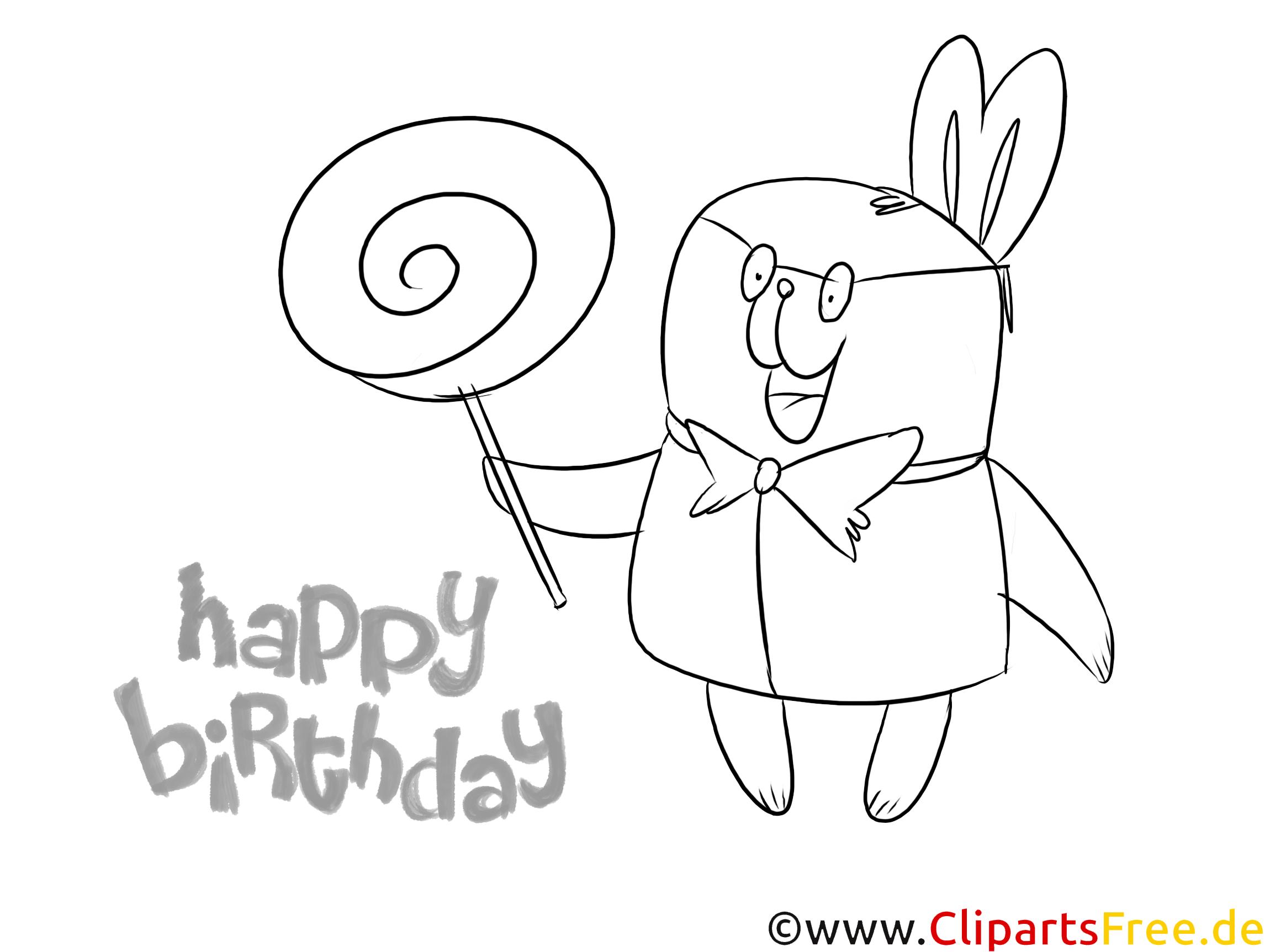 Doğum Günü Balon çocuk Boyama Sayfası