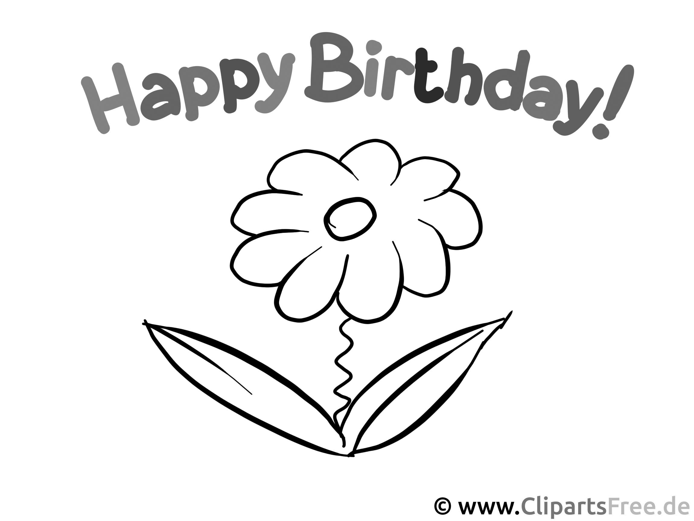 Malvorlagen Happy Birthday  Coloring and Malvorlagan