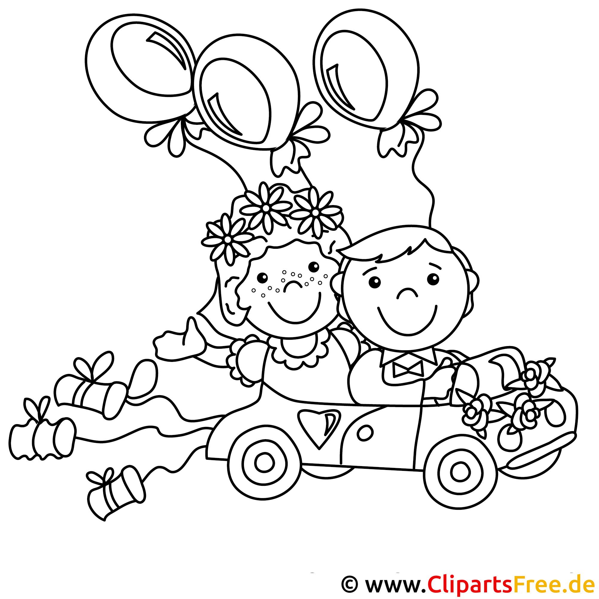 Ausmalbilder Auto Just Married : Hochzeit Ausmalbilder Kostenlos Zum Ausdrucken