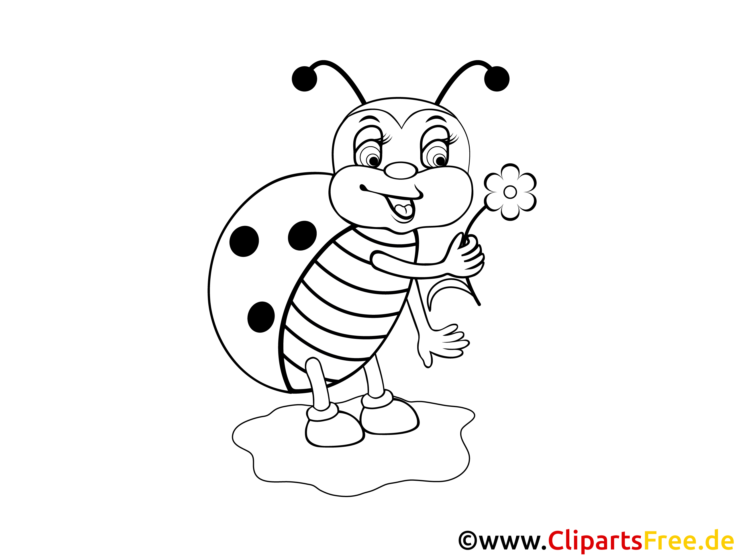 Uğur Böceği Boyama Sayfası Hayvanlar
