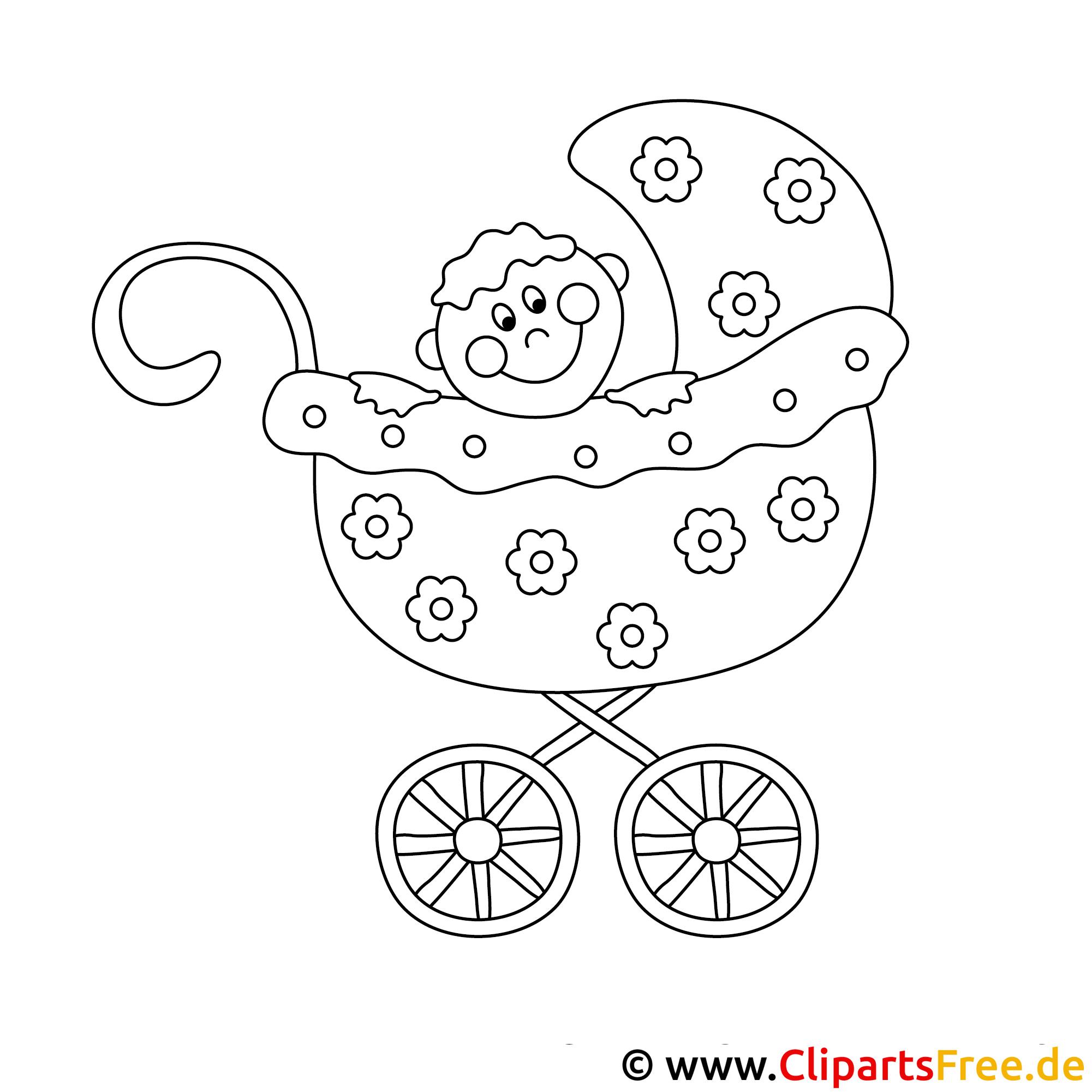 Malvorlage Baby Im Kinderwagen  Coloring and Malvorlagan