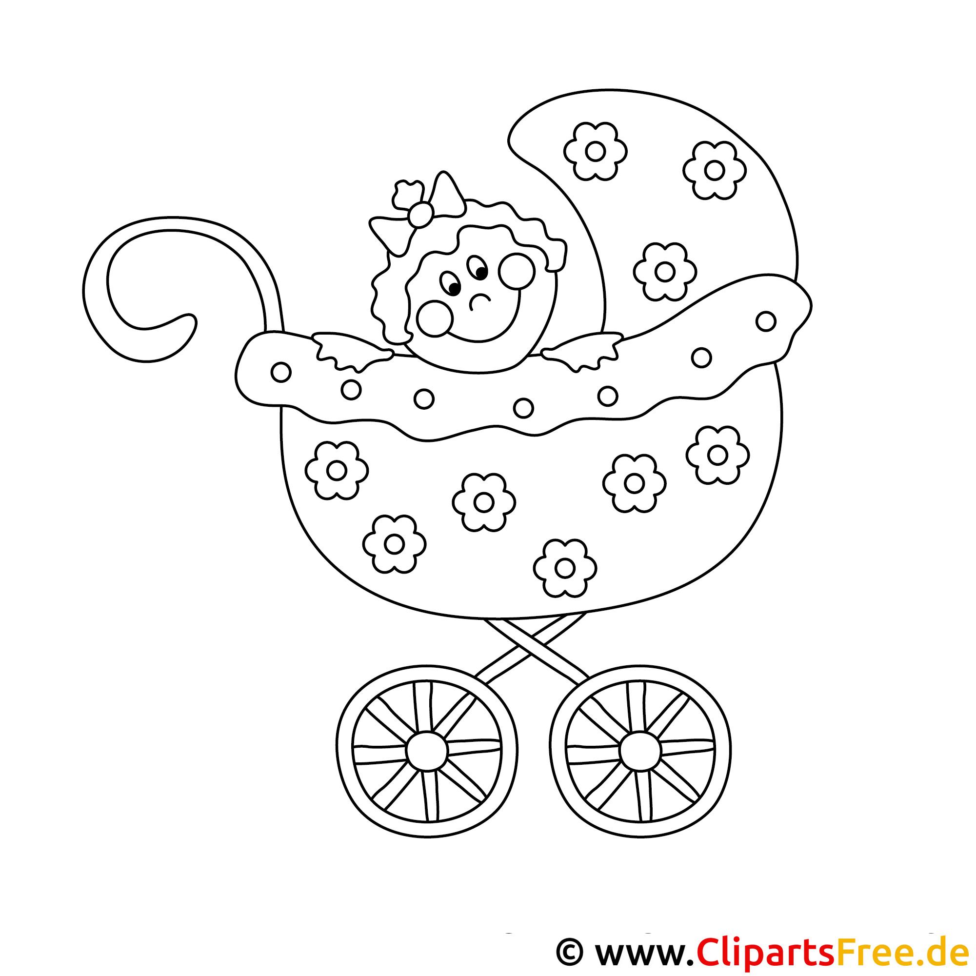 kleurplaat baby in kinderwagen kleurplaat baby in een