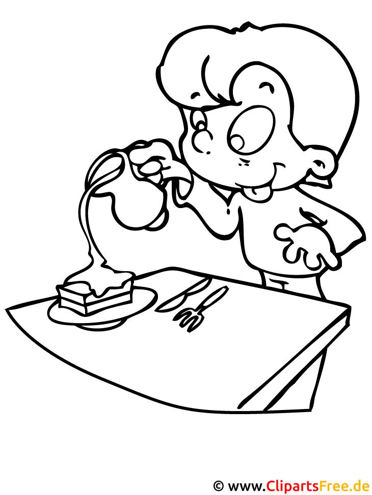 Kind im kindergarten ausmalbild - Dibujos de cocina ...