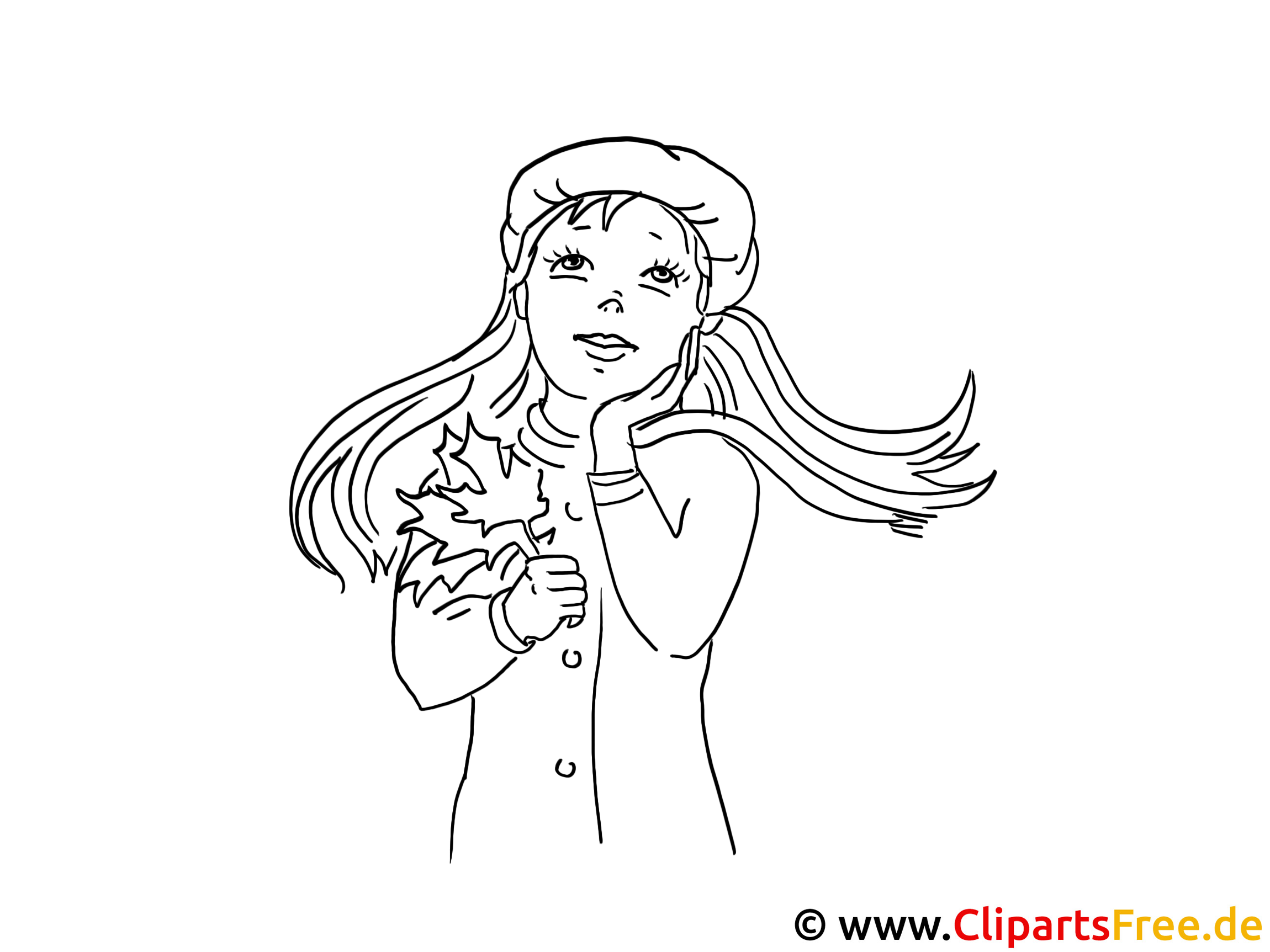 Beautiful Girls Coloring Pages