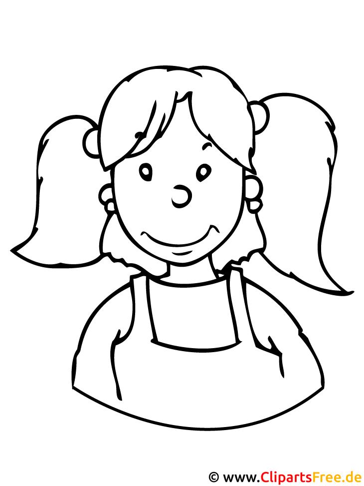 Kinder Malvorlagen Mädchen Malvorlage