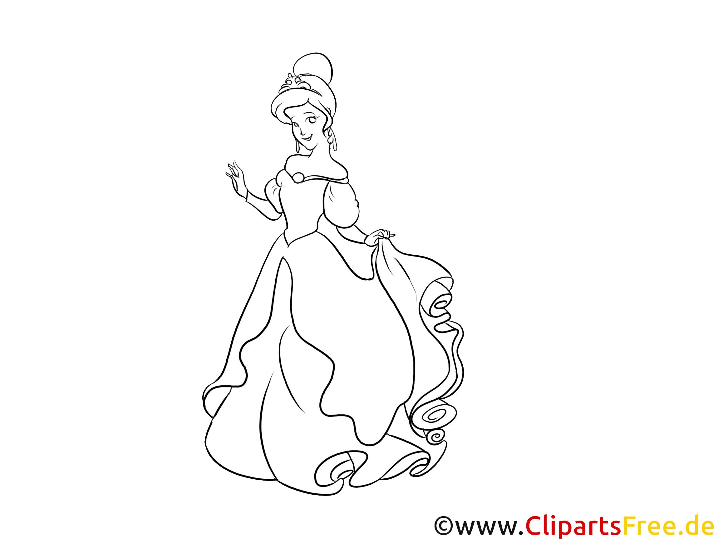 Gratis Ausmalbilder Eiskönigin Prinzessin Mädchen