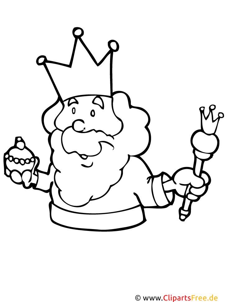 König Malvorlage fuer Kinder kostenlos