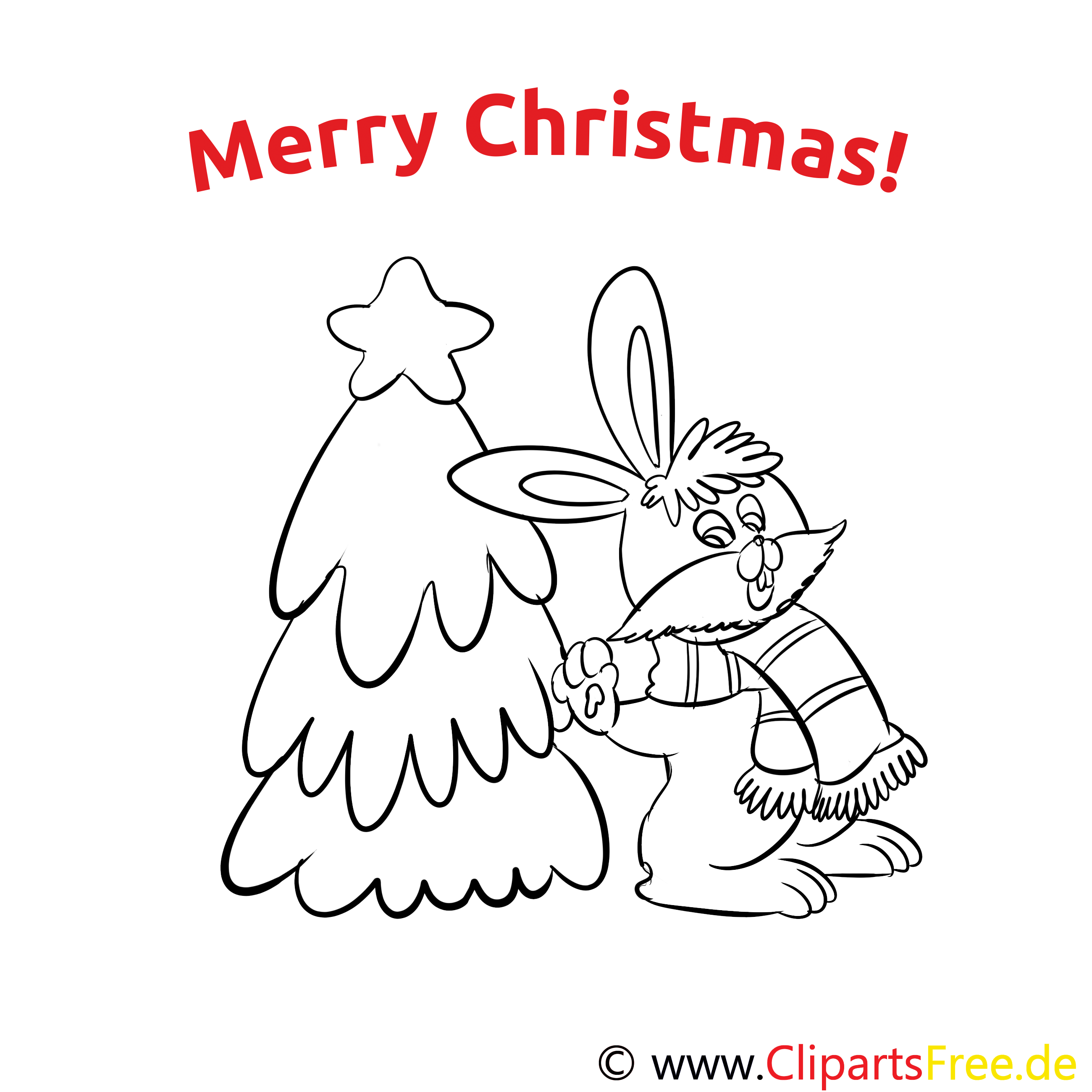 Hase Weihnachtsbaum Merry Christmas Coloring Sheets