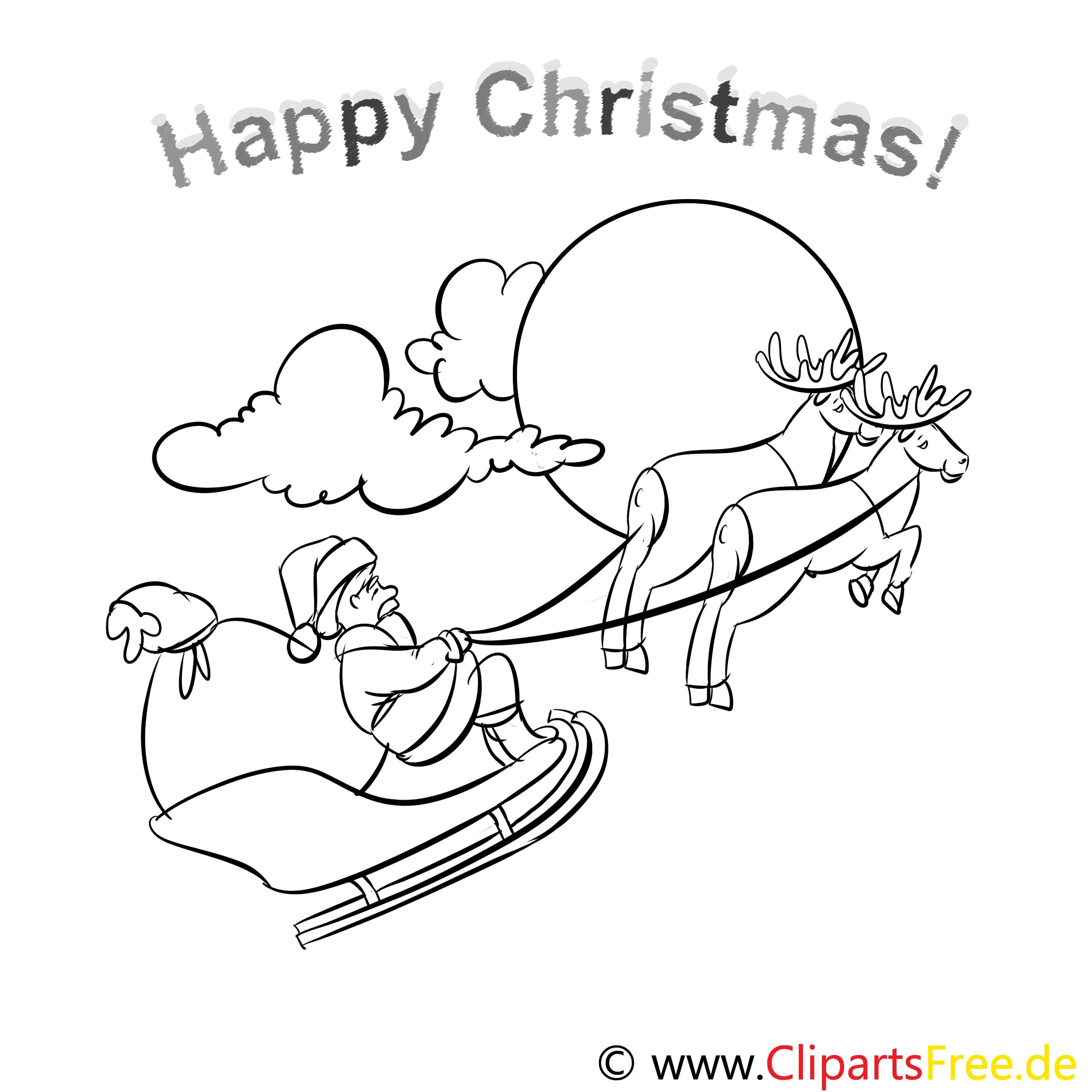 hirsch schlitten merry christmas coloring sheets malvorlagen