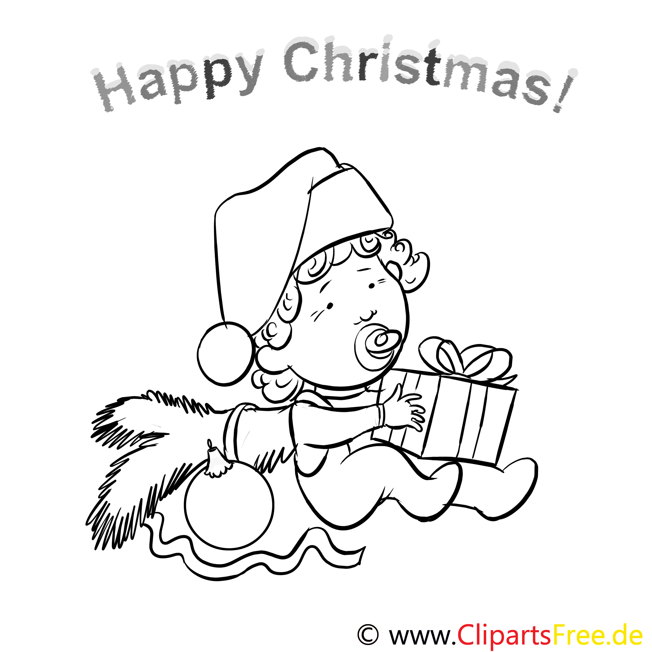 kind geschenk happy christmas pages to color malbilder