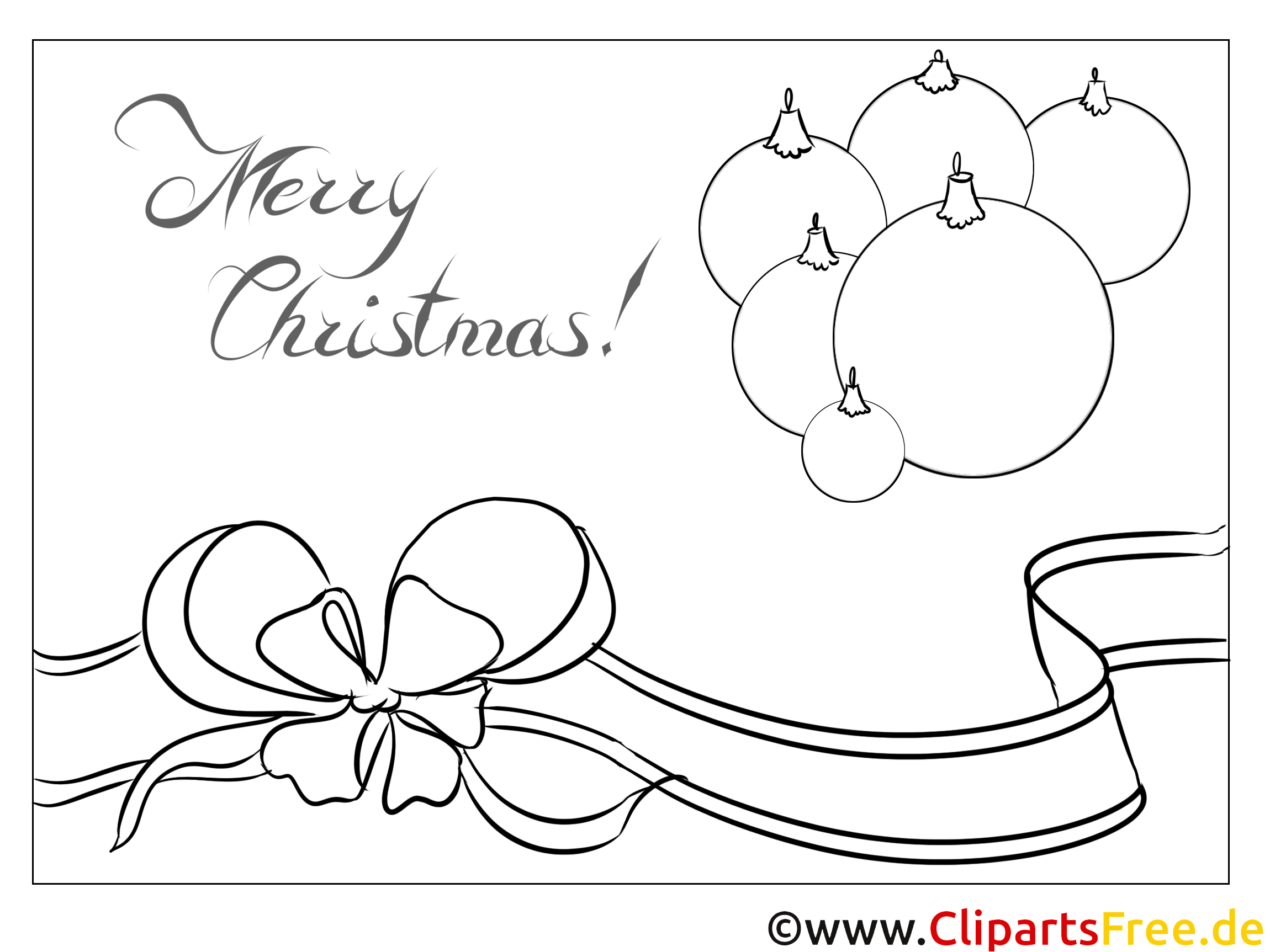 schleife weihnachtsspielzeug ausmalbild zu weihnachten