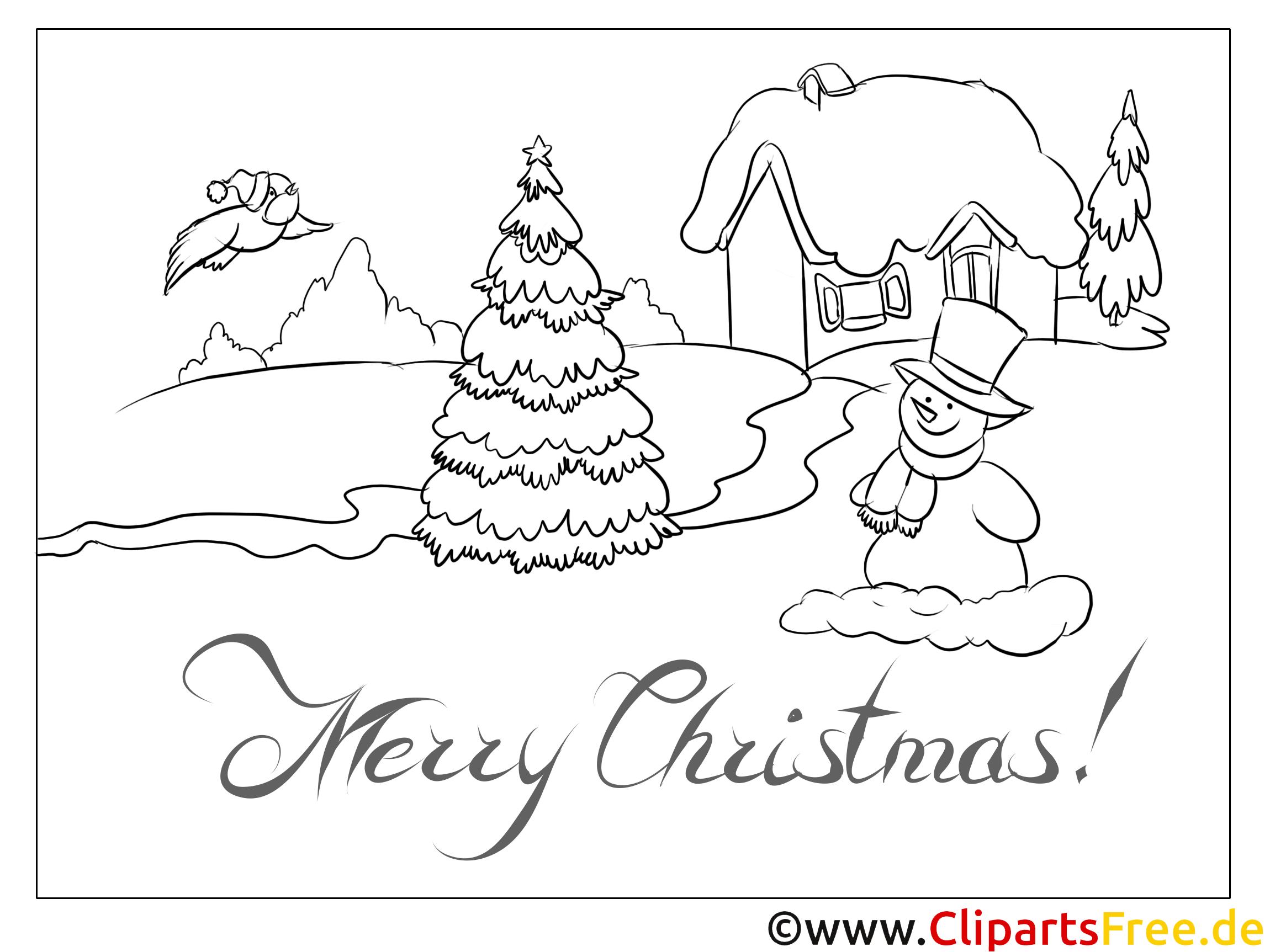 Malvorlagen Weihnachten.Schnee Vogel Schneemann Malvorlagen Weihnachten Und Advent