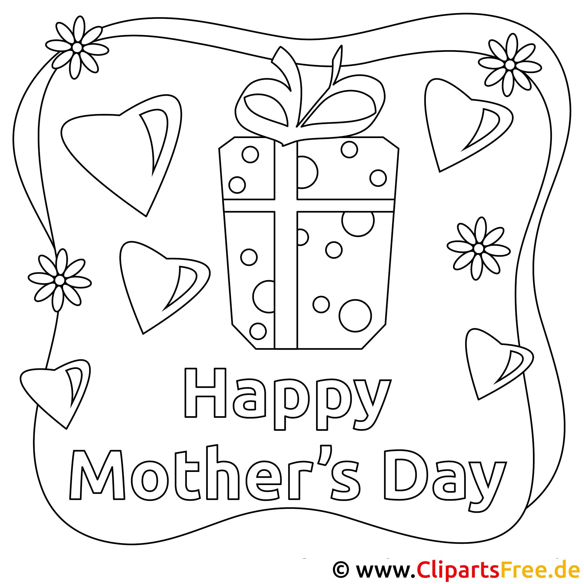 Geschenke zum Muttertag gratis Ausmalbild