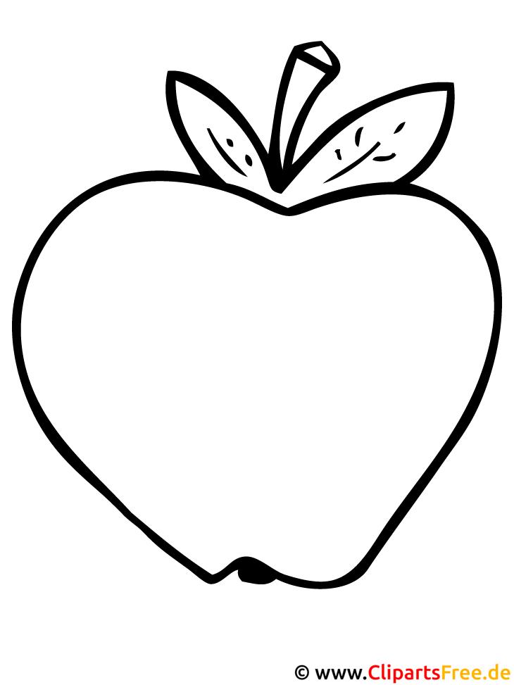 Apfel malvorlage gratis - Dessin pomme apple ...