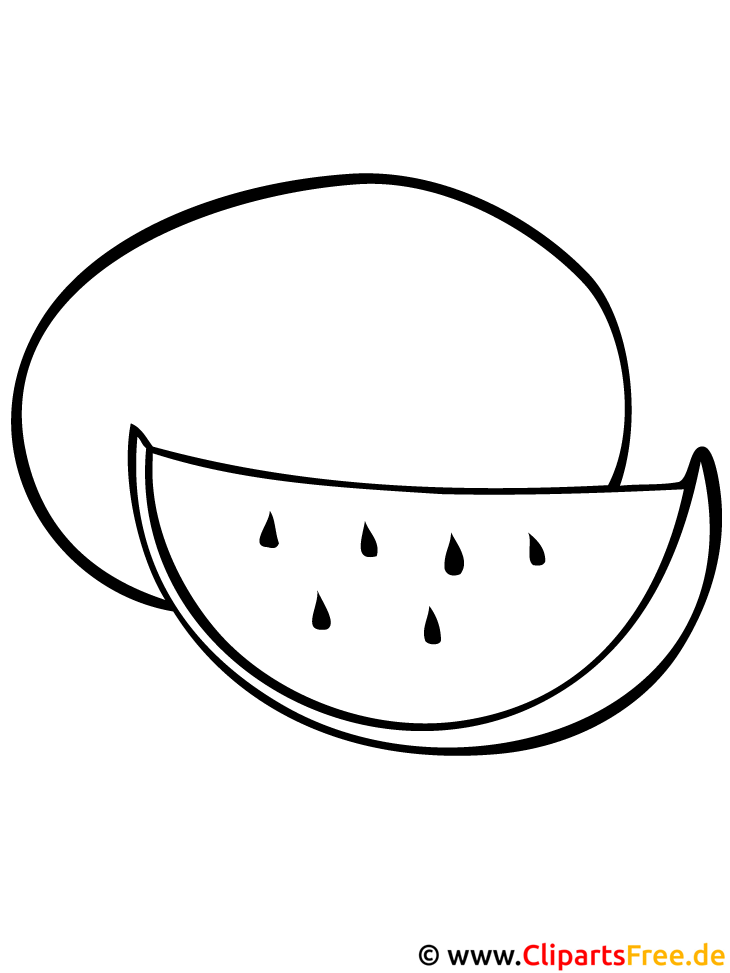 Wassermelone Malvorlage - Malvorlagen Obst und Gemuese