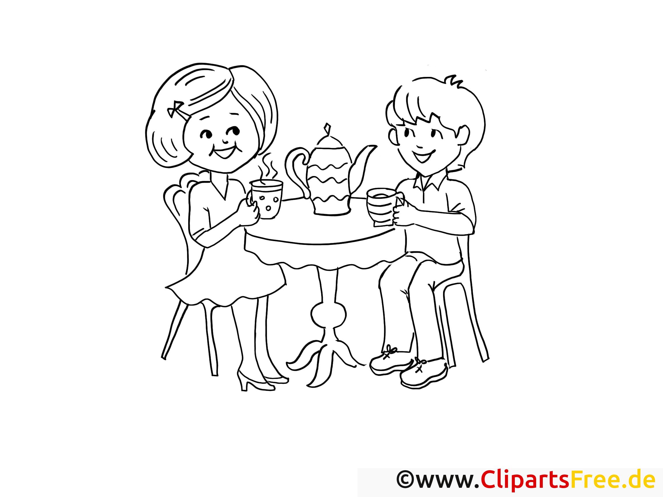 kinder trinken tee malvorlagen und kostenlose ausmalbilder