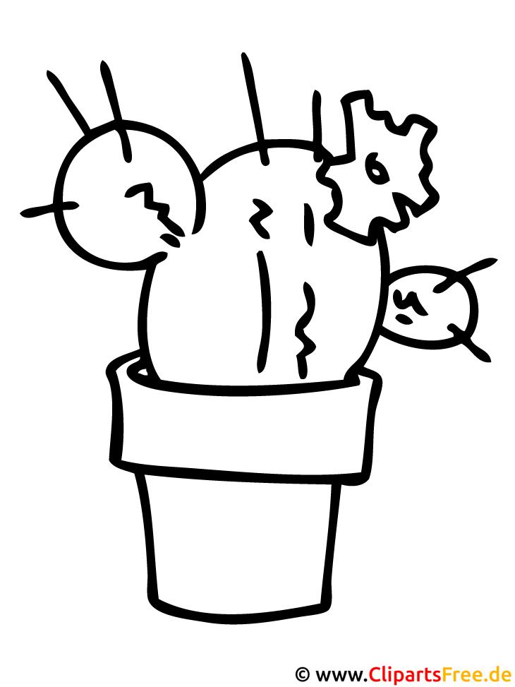 Kleurplaat Cactussen Kaktus Malvorlage Fuer Kinder
