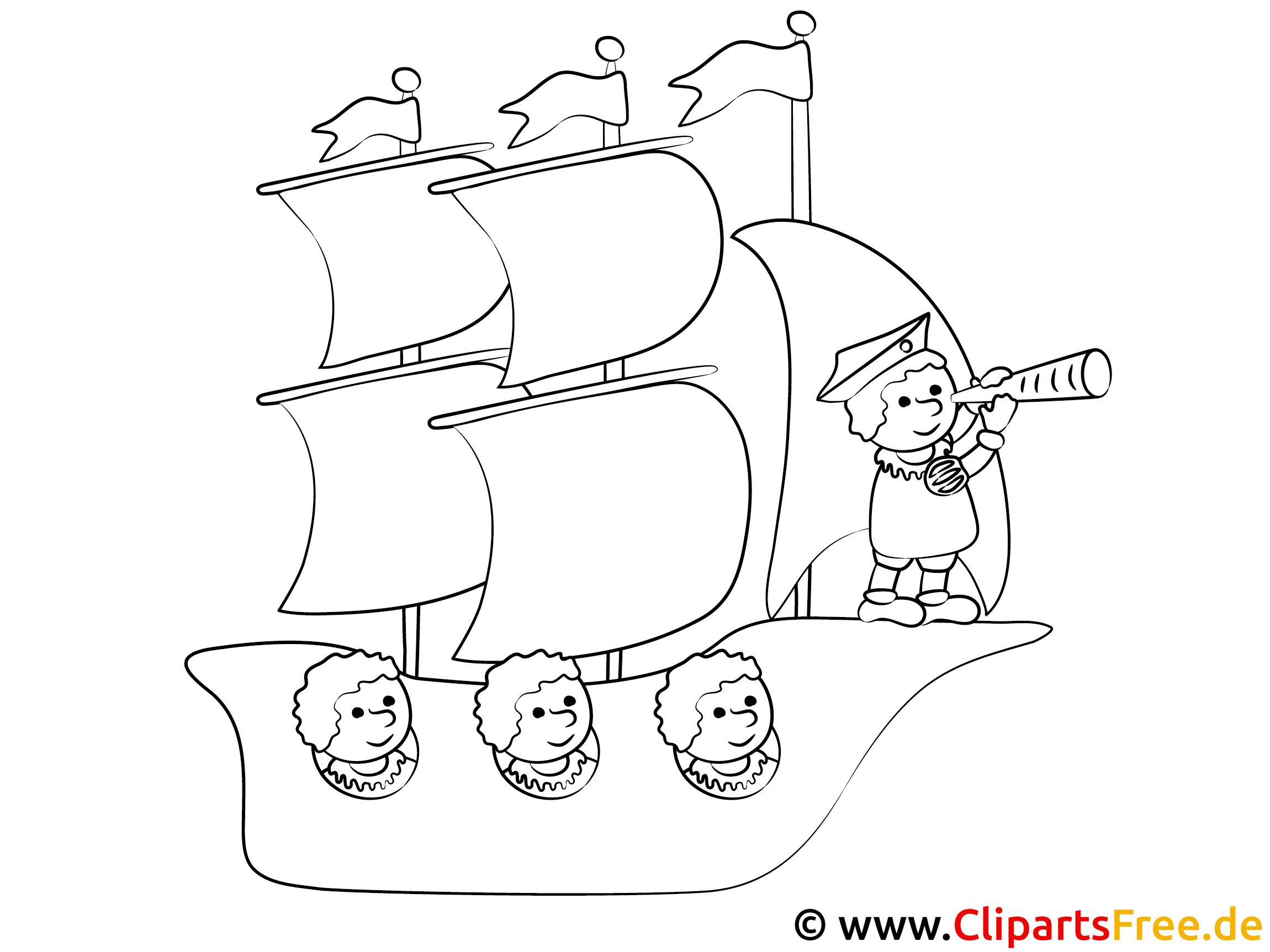 segelschiff reisen marvorlage für kinder