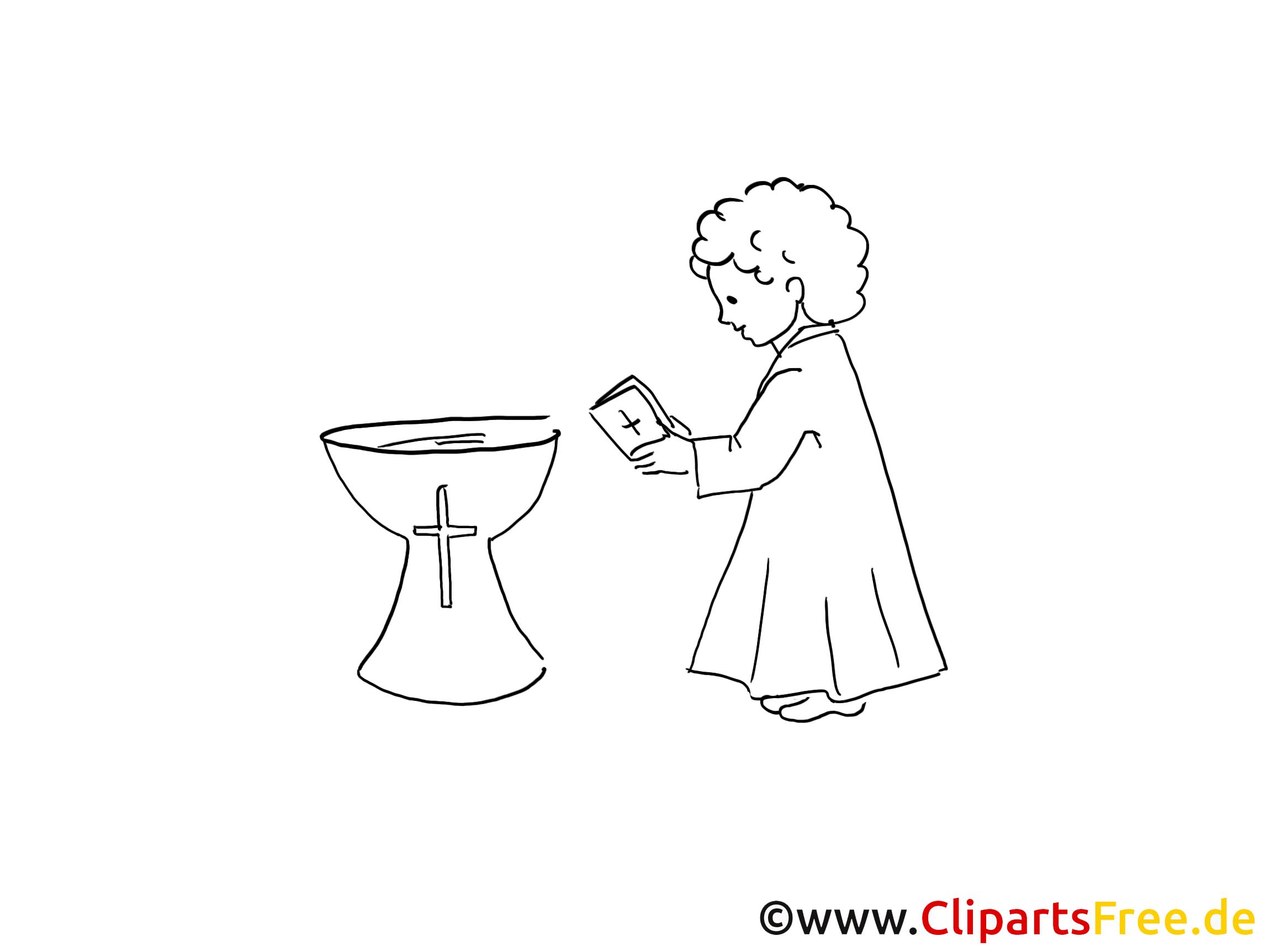 Taufe Ausmalbild Für Kinder Kostenlos Ausdrucken