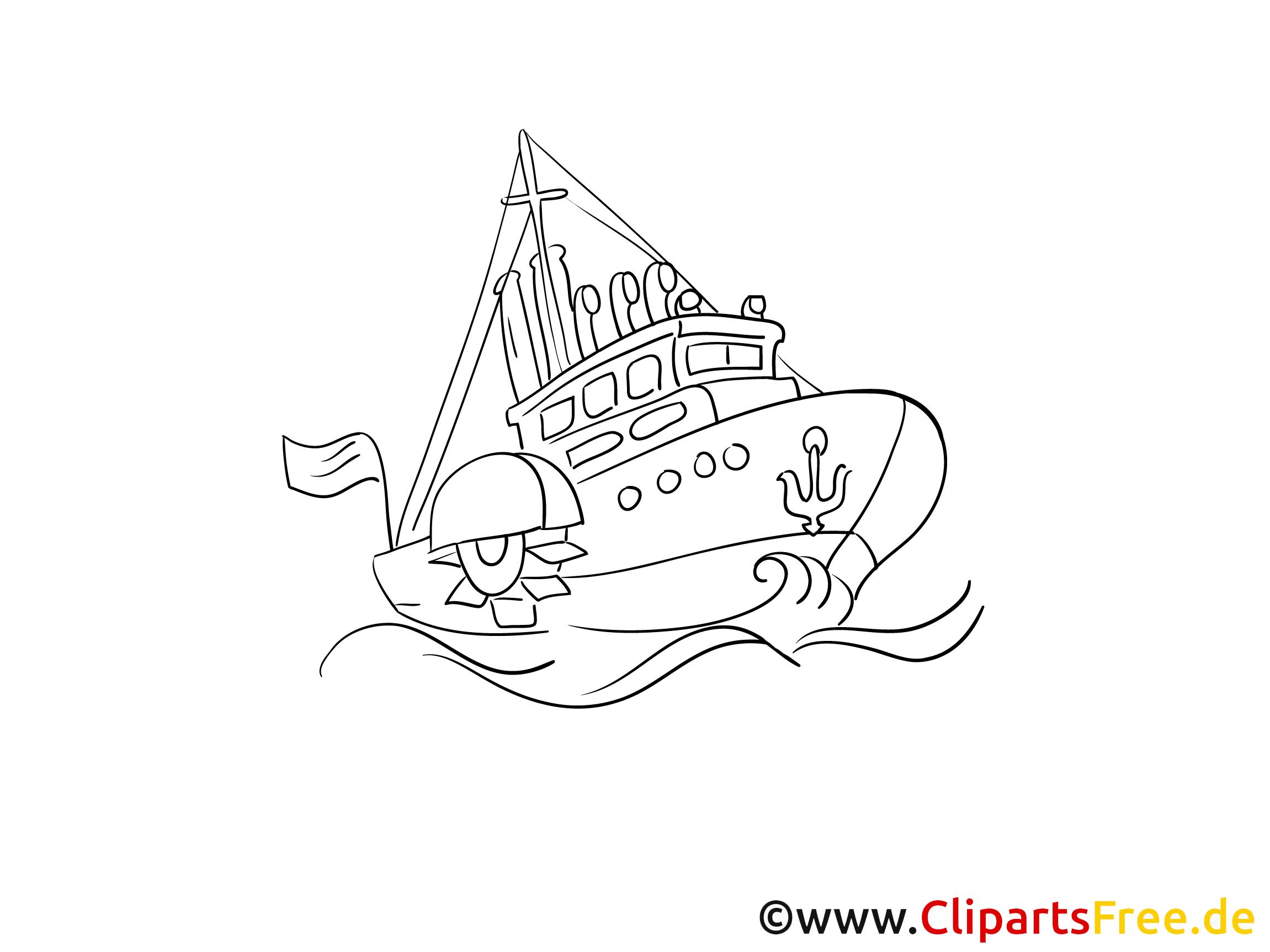 Anker Meer Kostenlose Malvorlagen Von Schiffen Und Booten