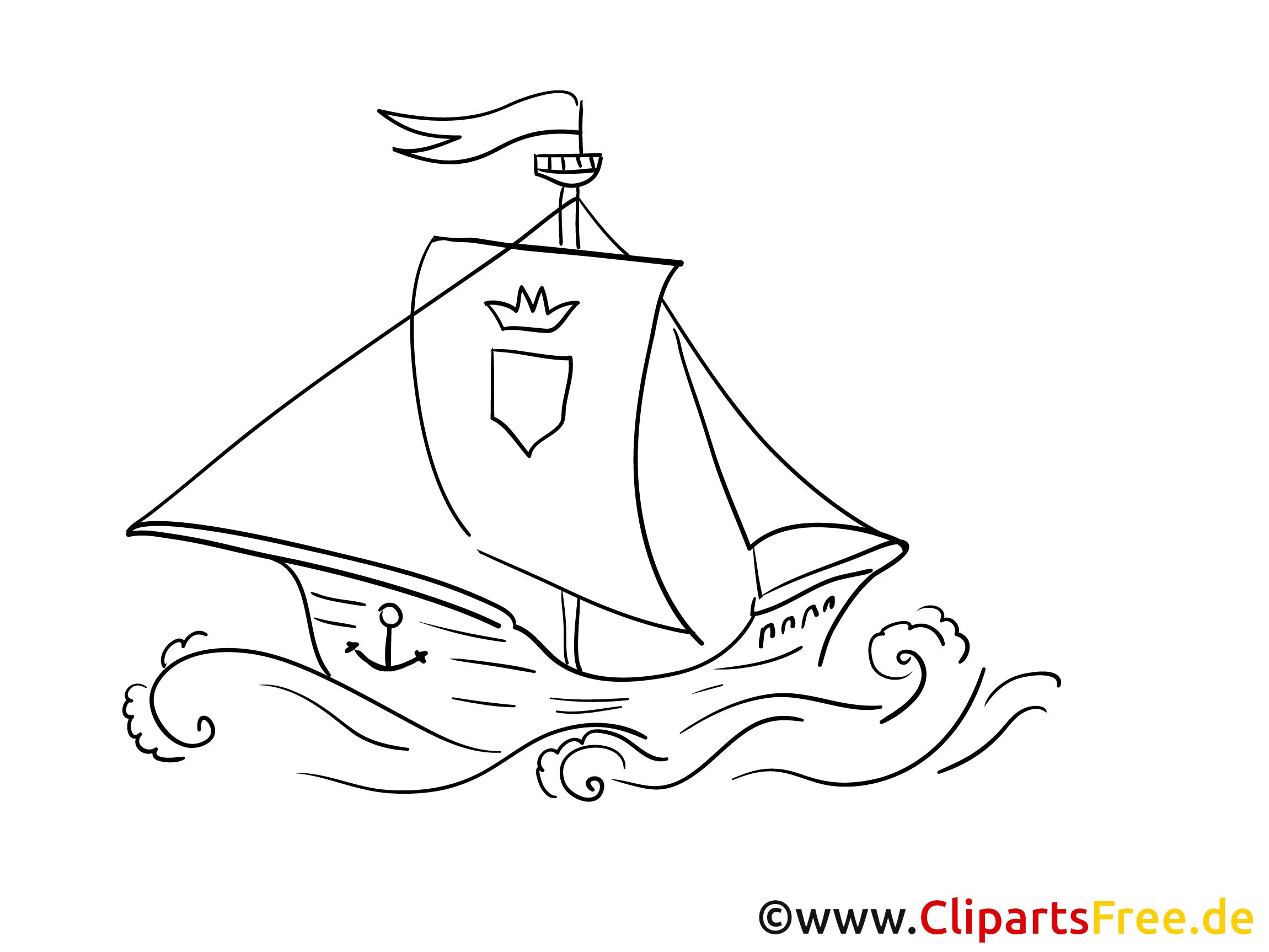 wellen schiff gratis malvorlage