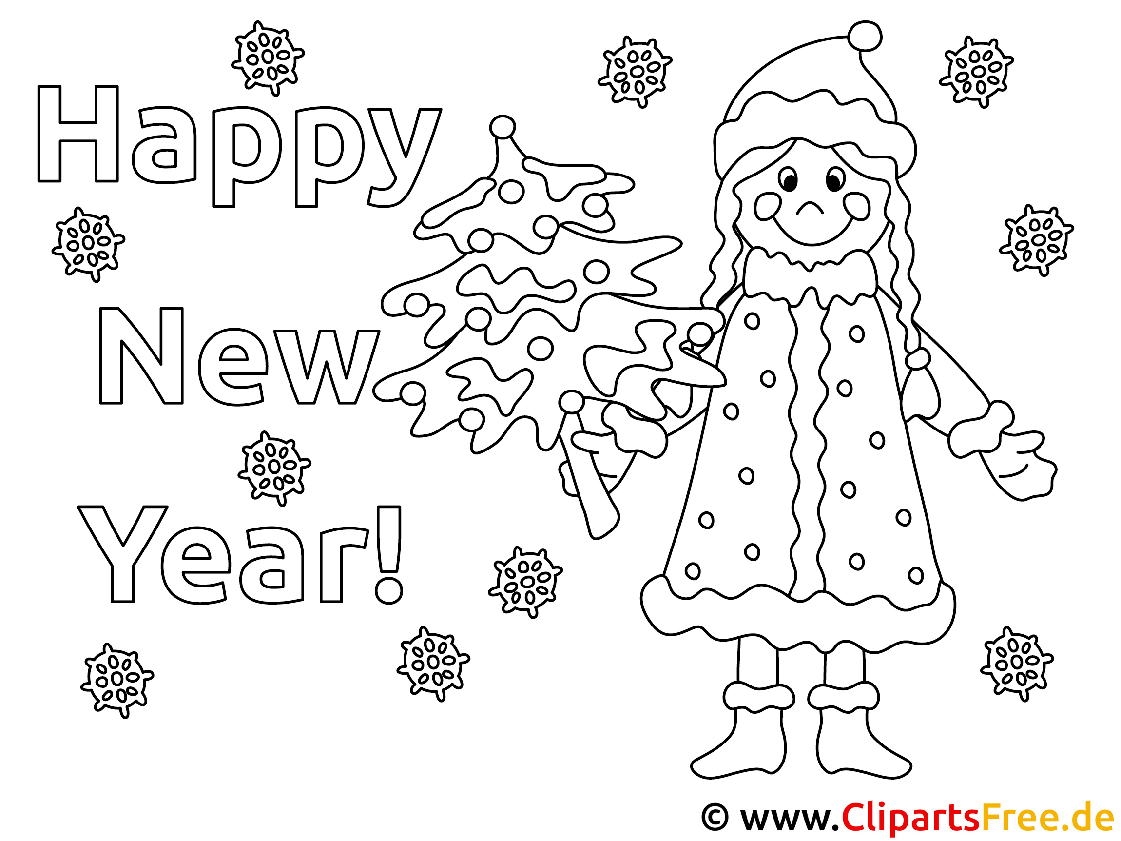Bilder Zum Ausmalen Neujahr