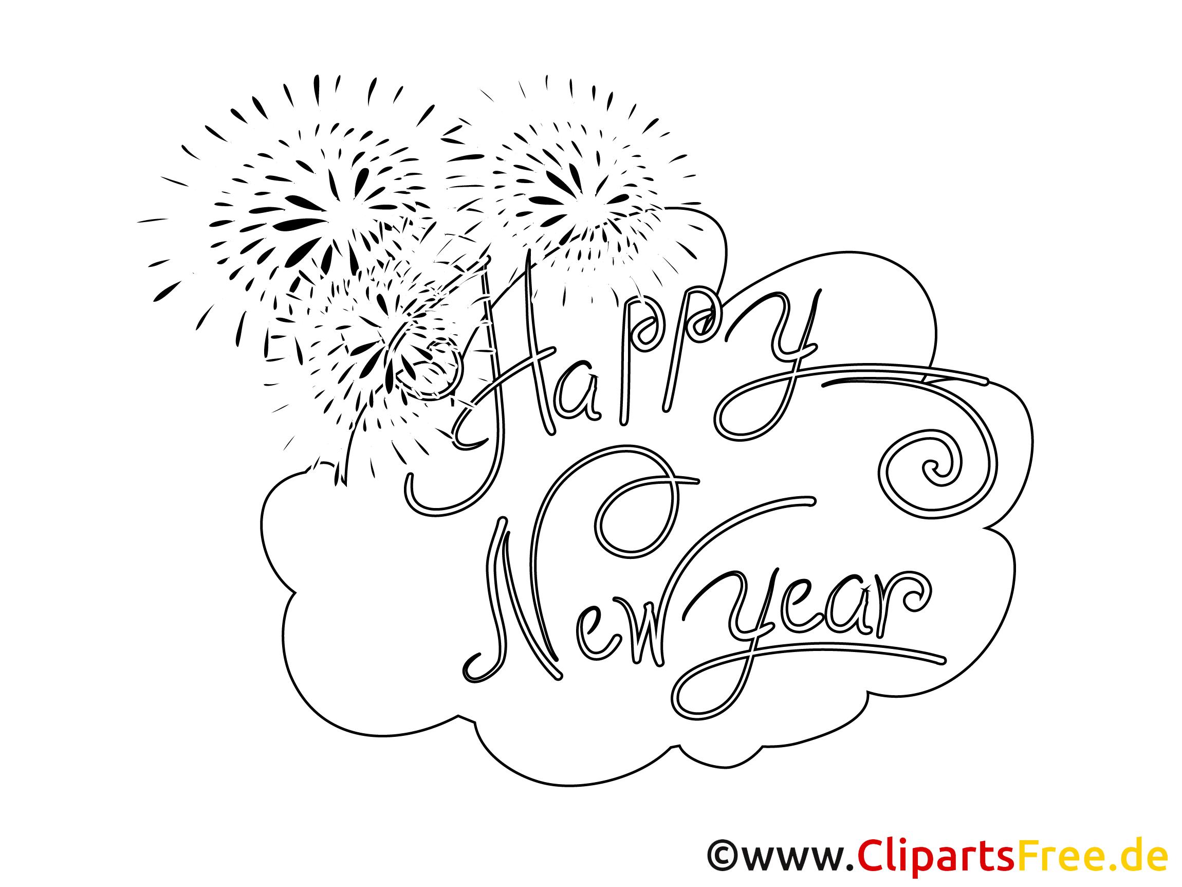 Neujahr Bilder Zum Ausmalen