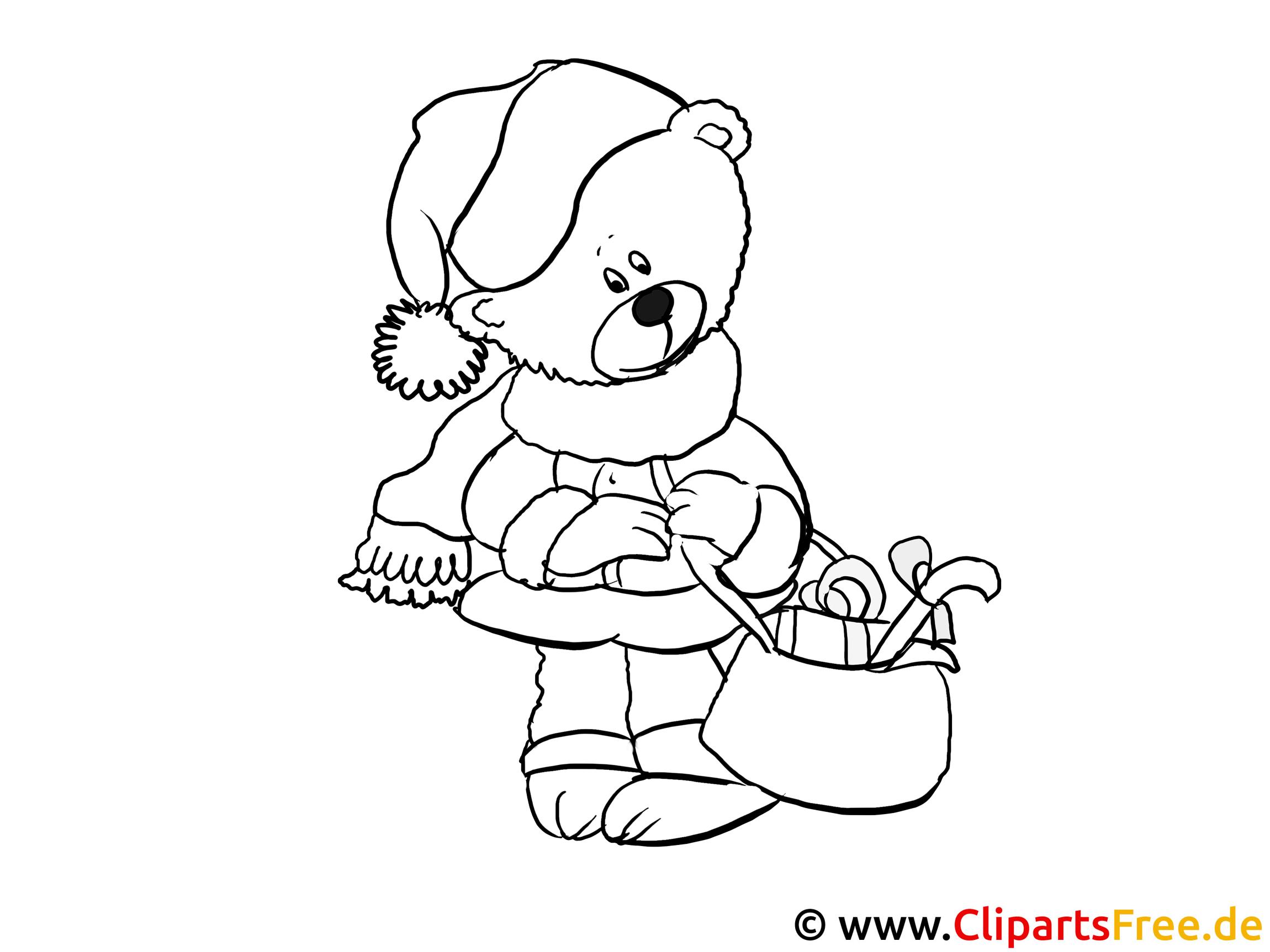 malvorlage fuer kleinkinder teddybaer