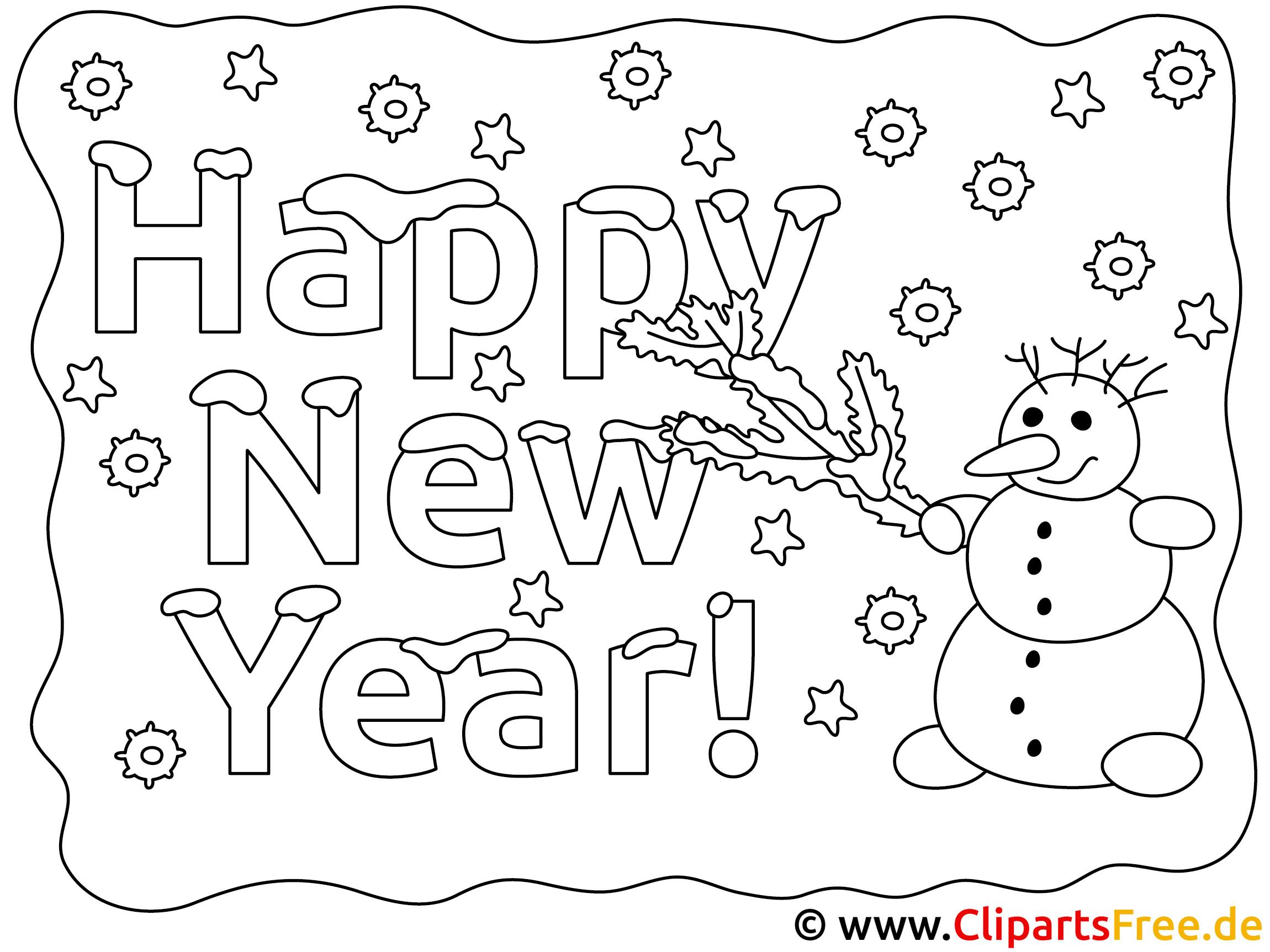 gratis ausmalbilder neujahr - ausmalbilder