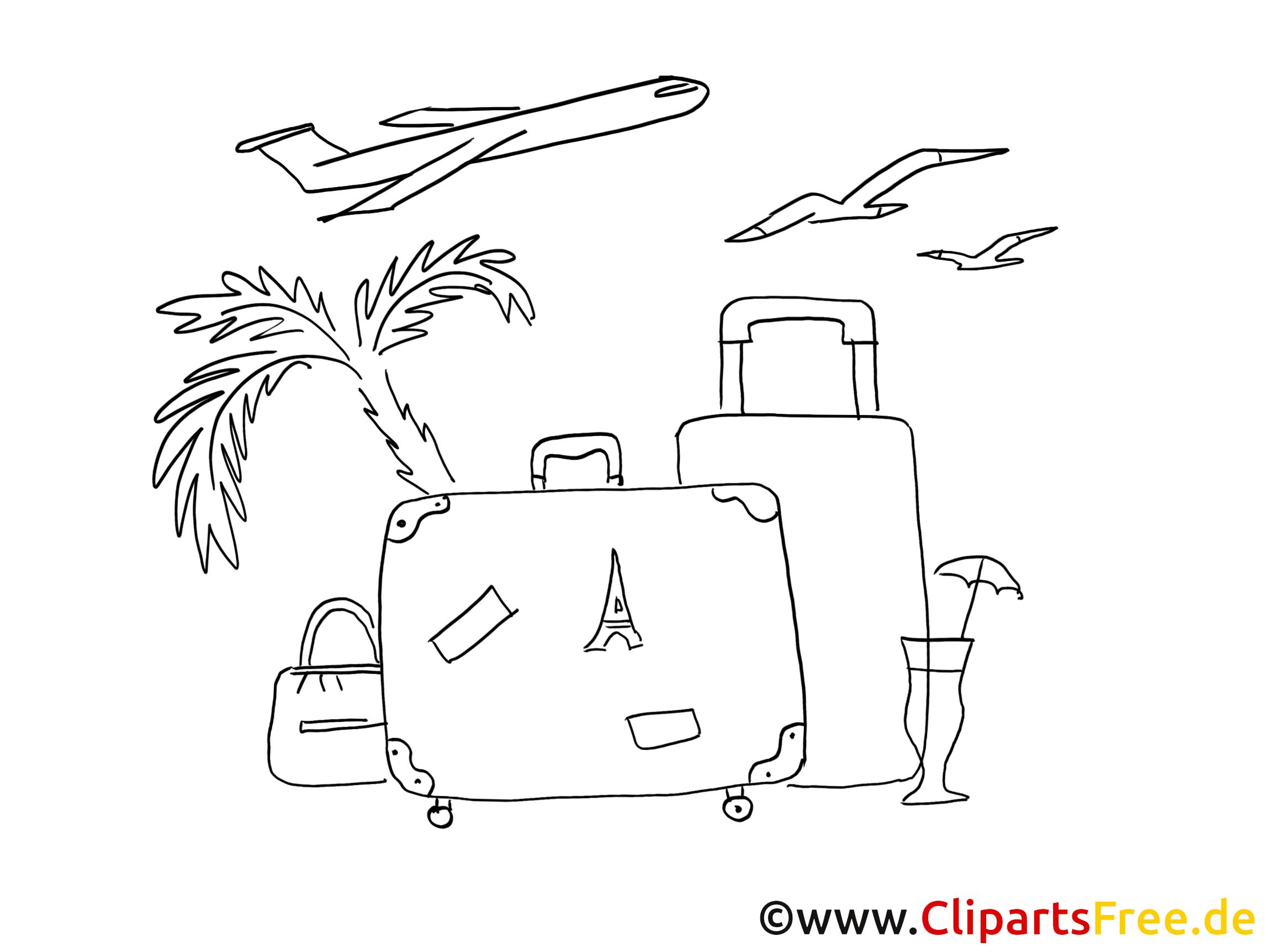 Malvorlagen Für Kinder: Urlaub Sommer Ausmalbilder Für Kinder Gratis
