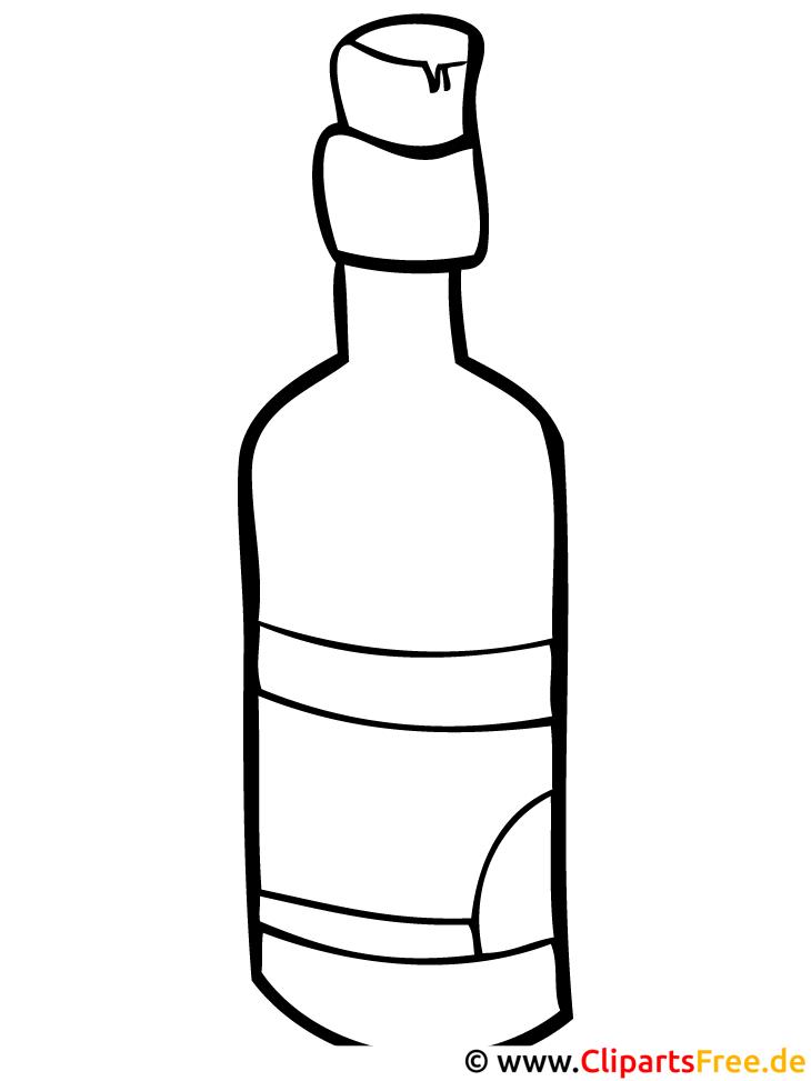 Flasche Malvorlage Malvorlagen Ausmalen Kostenlos