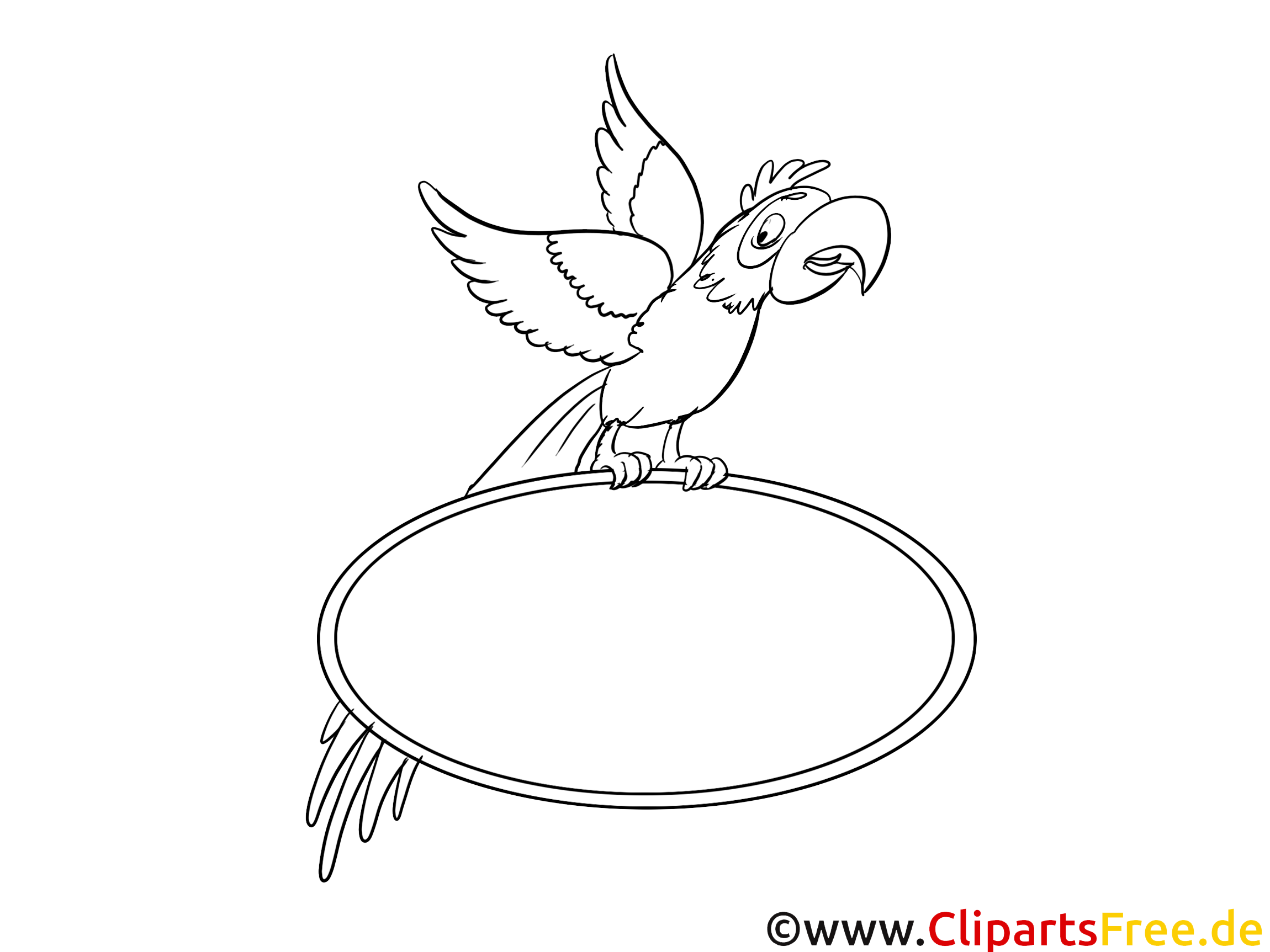 ausmalbild papagei