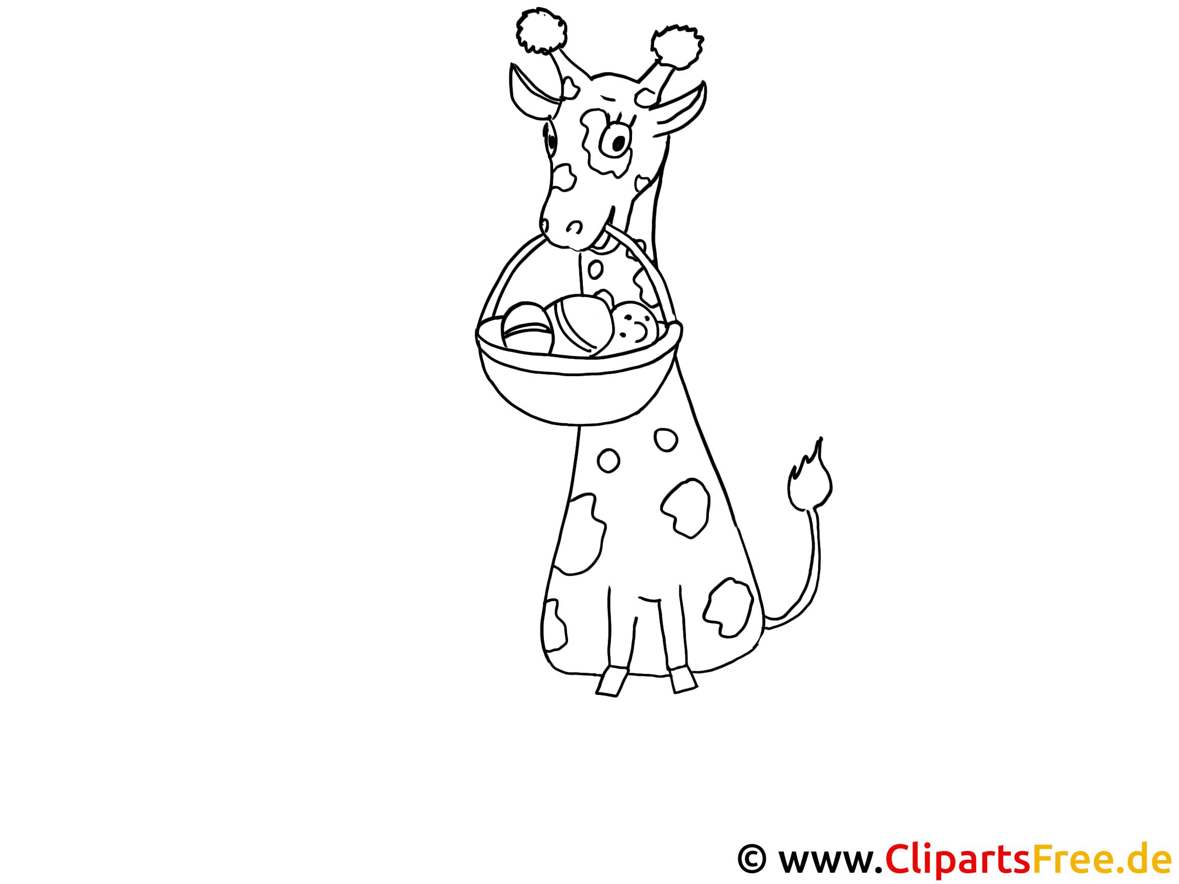 kostenlose malvorlage giraffe