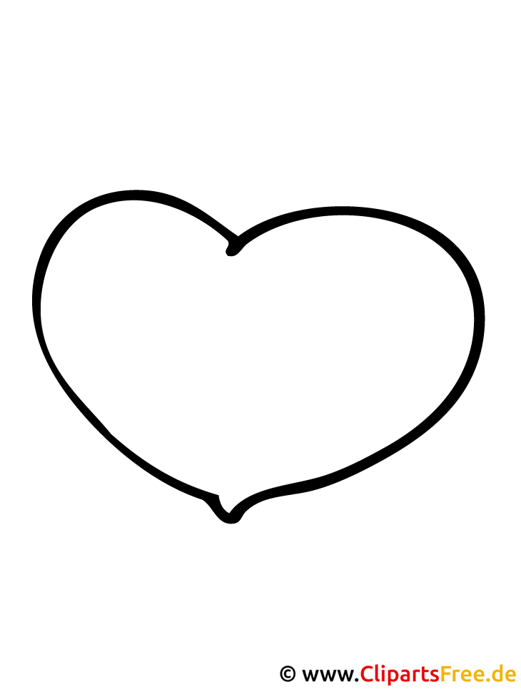 Herz Ausmalbild- Valentinstag Ausmalbilder