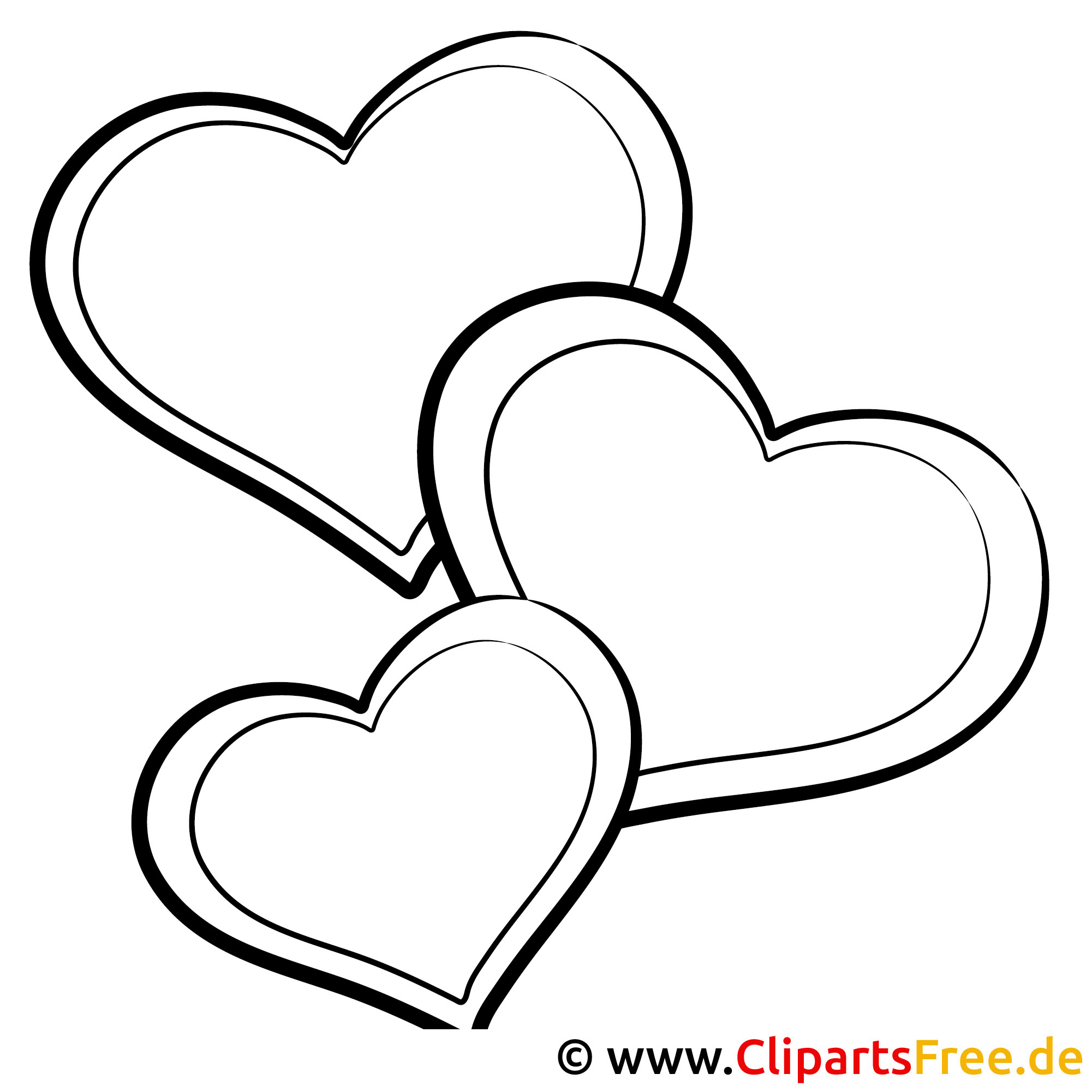 Herz Bild zum Ausmalen
