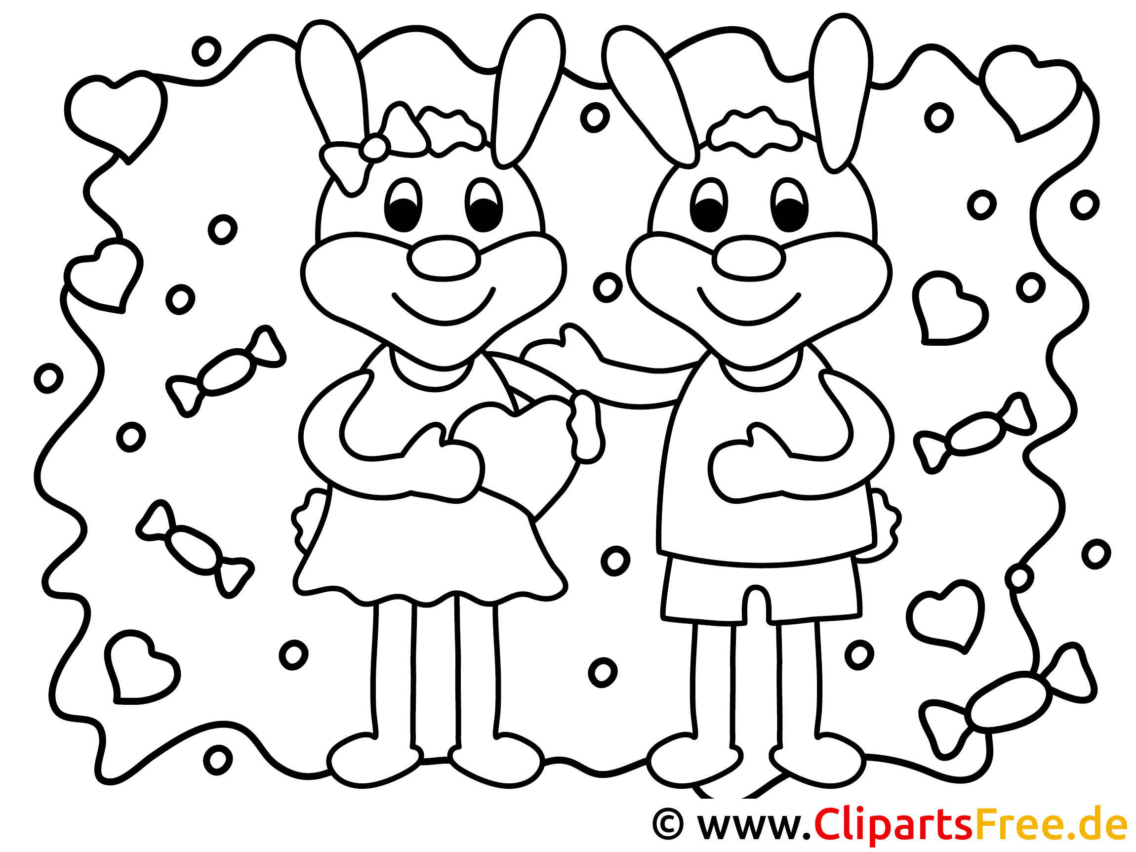 Wunderbar Happy Valentinstag Malvorlagen Bilder - Malvorlagen Von ...