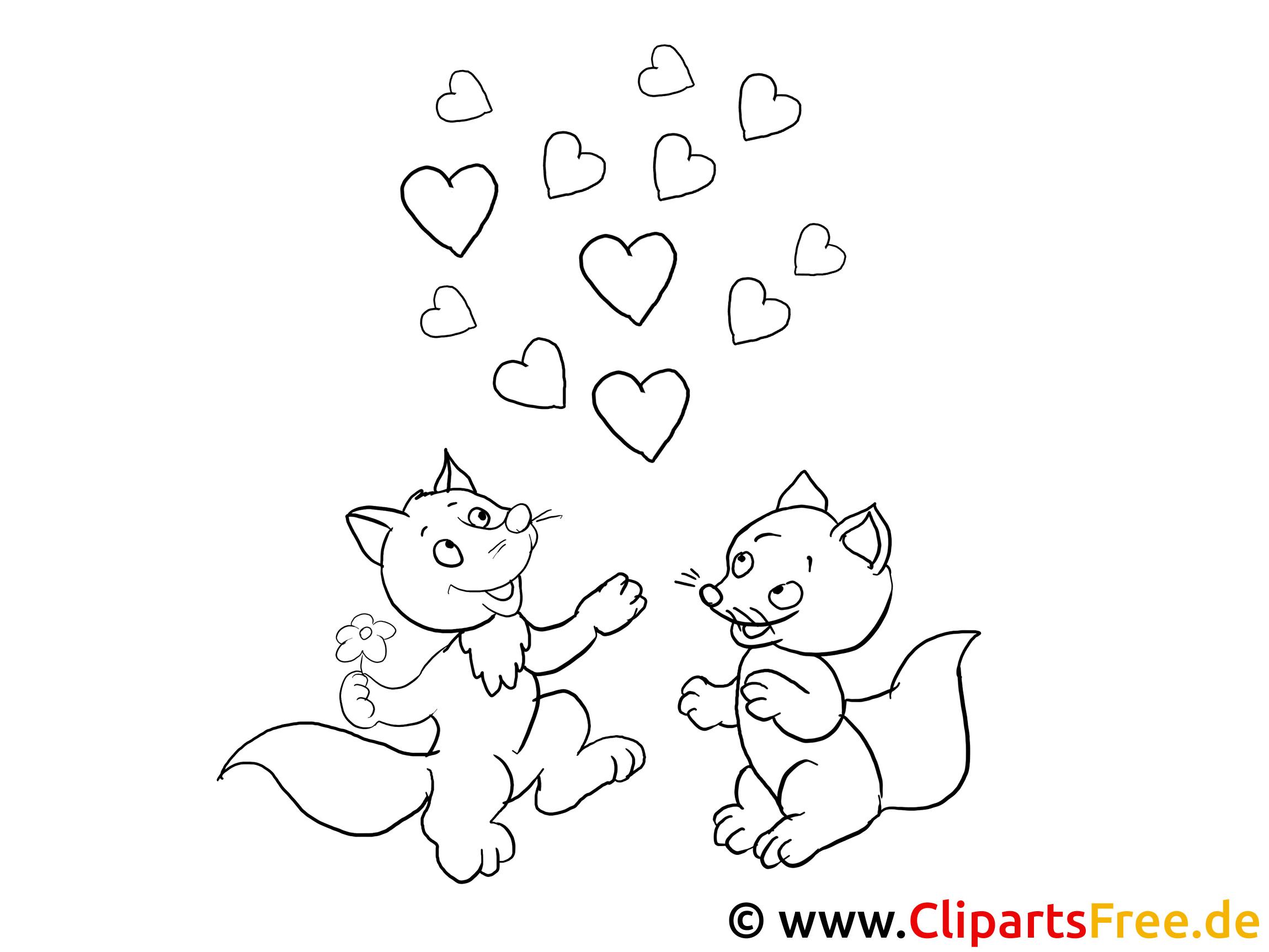 lustige verliebte tiere ausmalbilder für kinder kostenlos