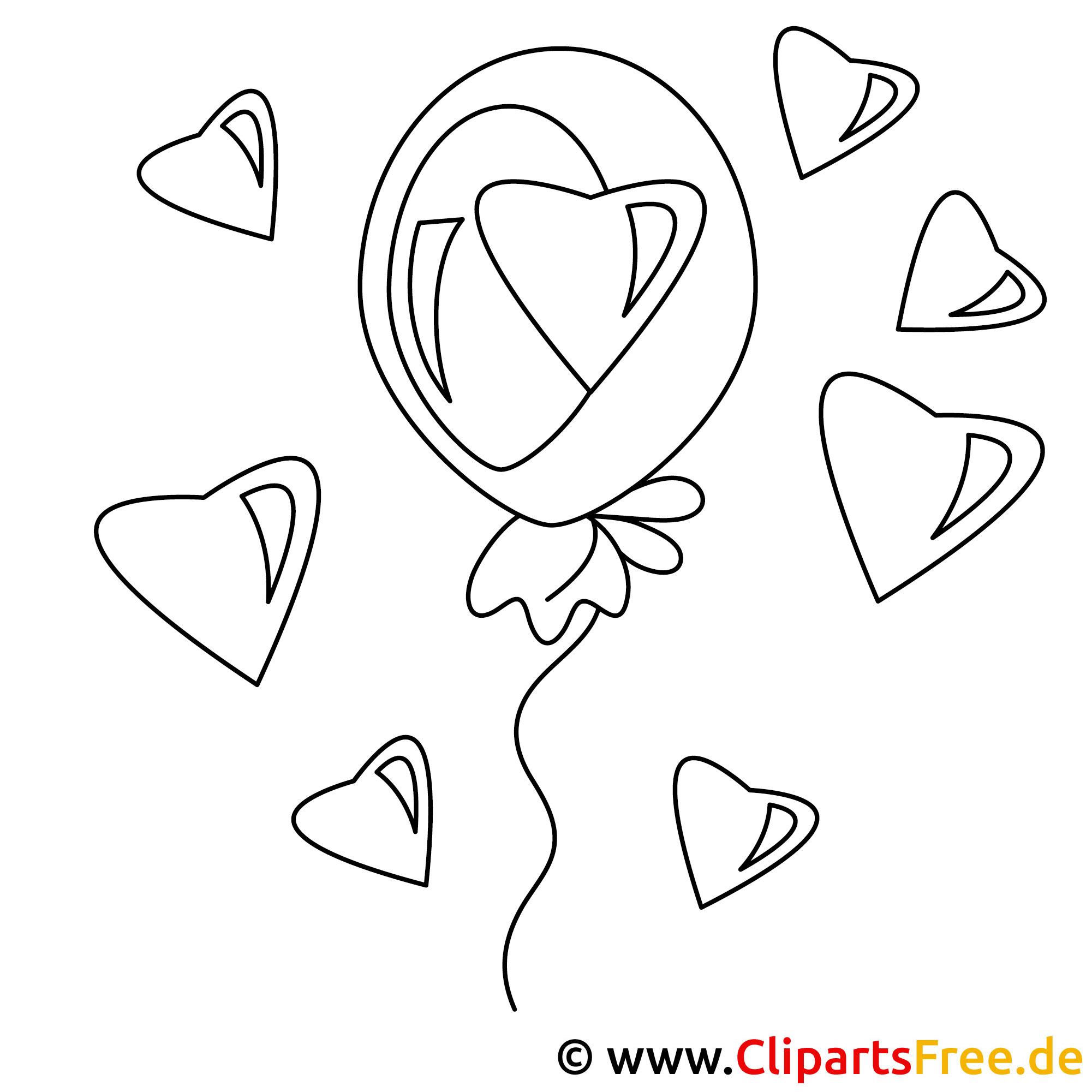 Party zum valentinstag bild zum malen online - Menschen malen lernen kindergarten ...